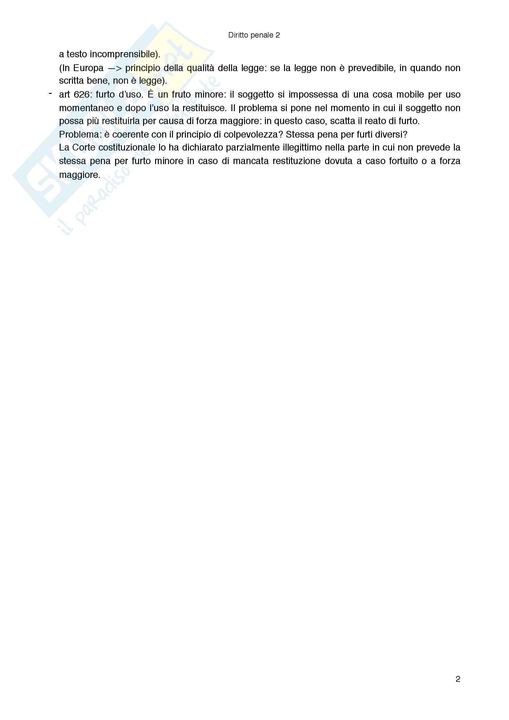 Riassunto per l'esame di diritto penale 1, testo consigliato Diritto penale Parte generale, Fiandaca, Musco Pag. 2