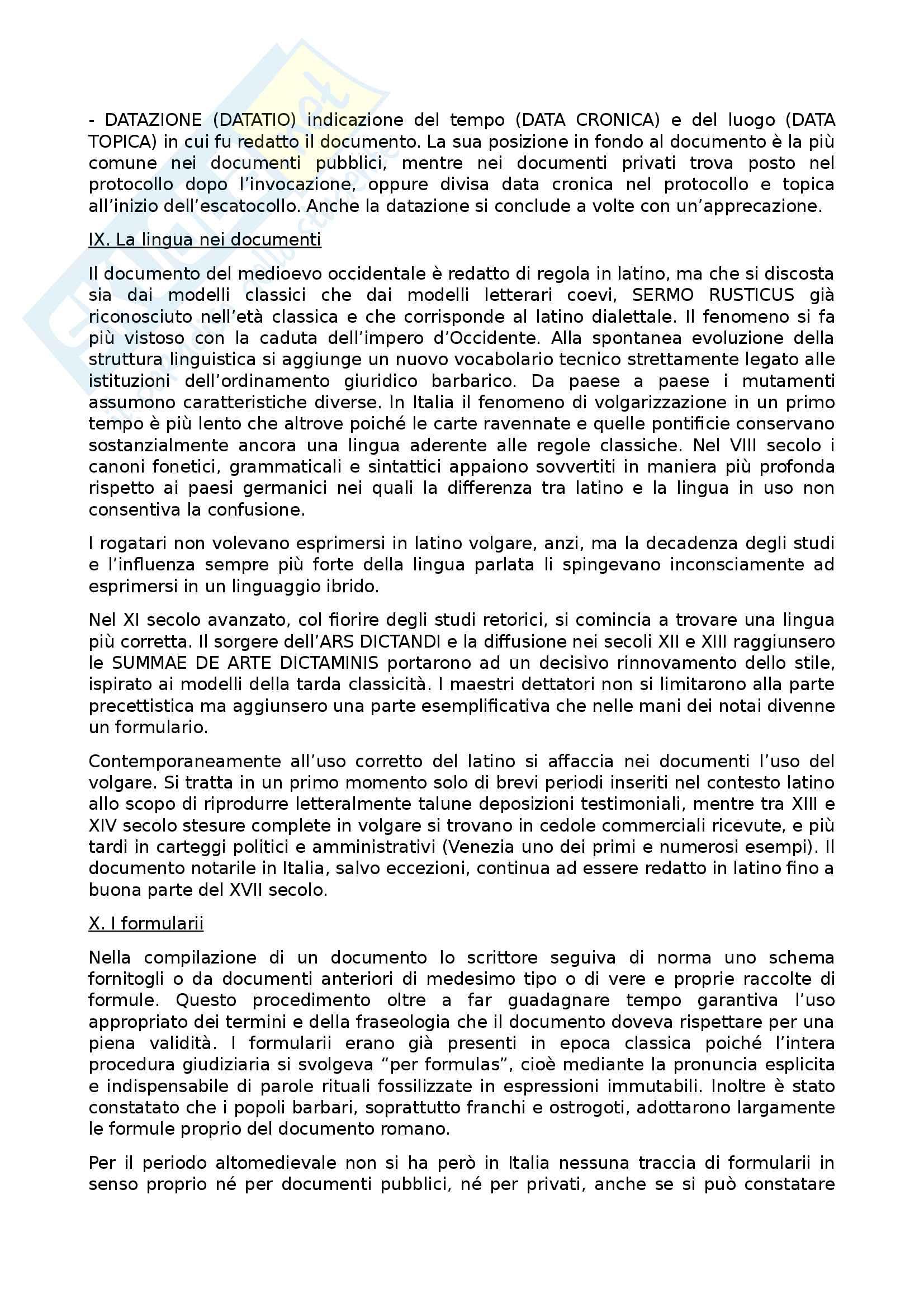 Riassunto esame Diplomatica, prof Pozza, libro consigliato Genesi del documento medievale, Pratesi Pag. 11