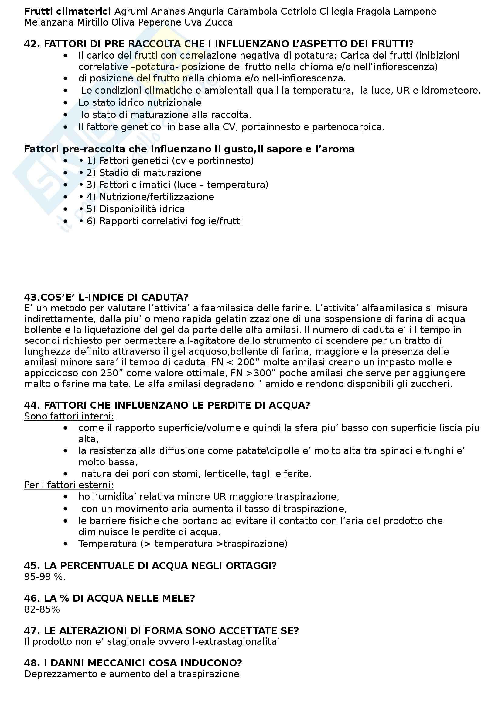 Riassunto esame Alimenti di origine vegetale, prof. Sambo Pag. 6
