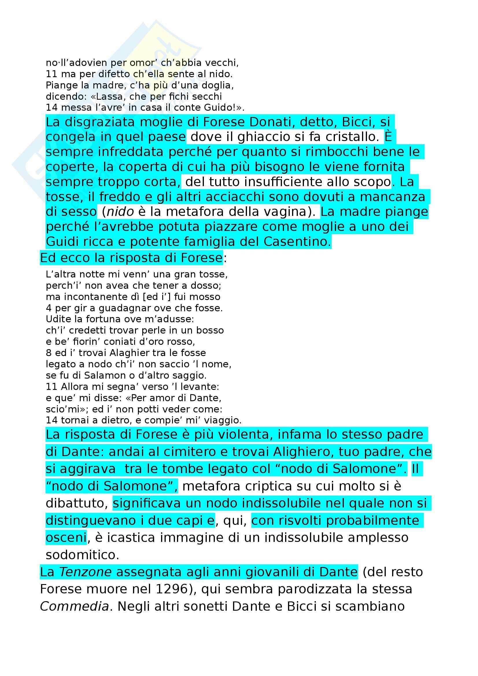 Riassunto esame Letteratura Italiana, prof. Villoresi, libro consigliato La poesia comico realistica, Orvieto, Brestolini Pag. 6