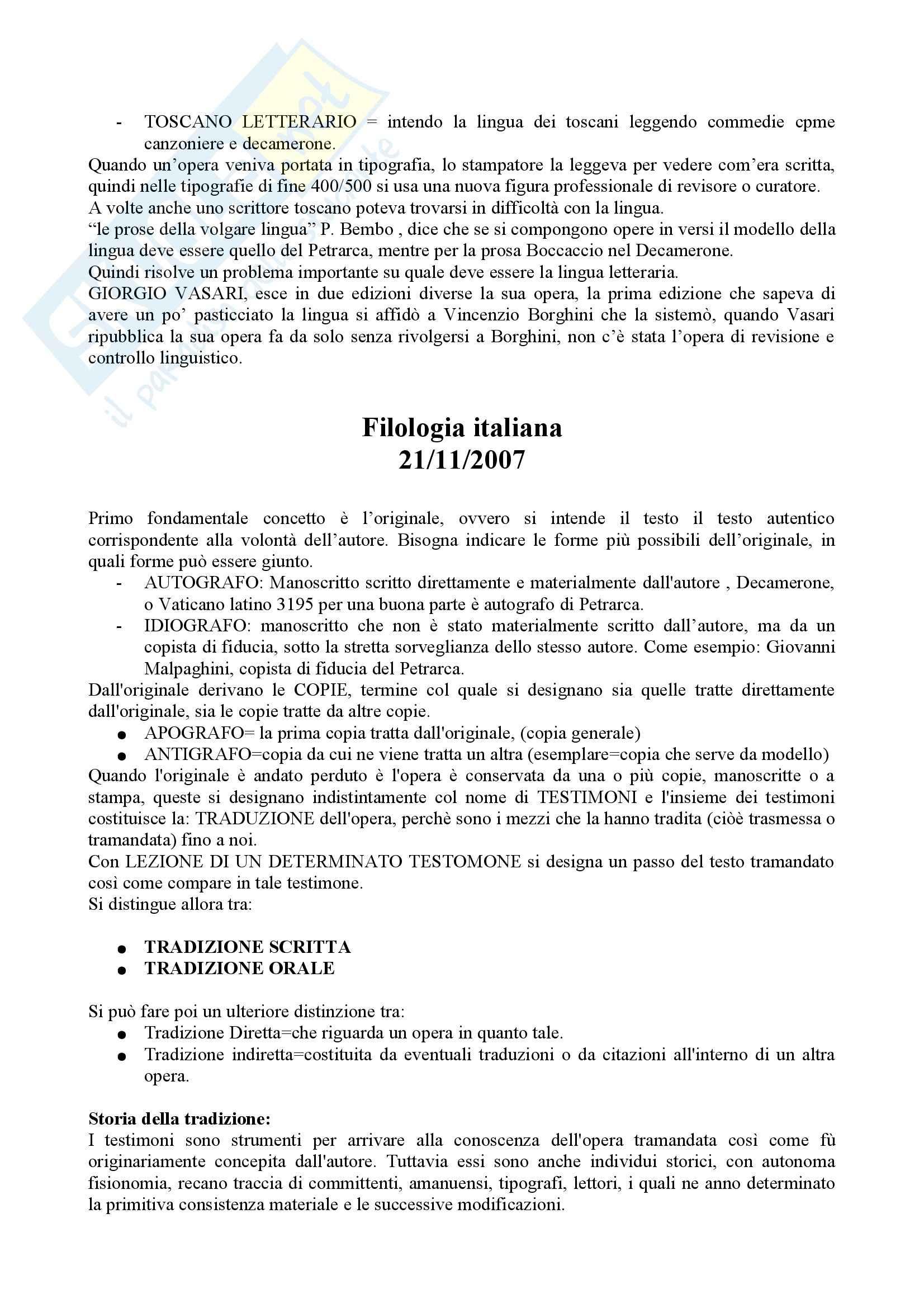 Filologia - nozioni Pag. 11
