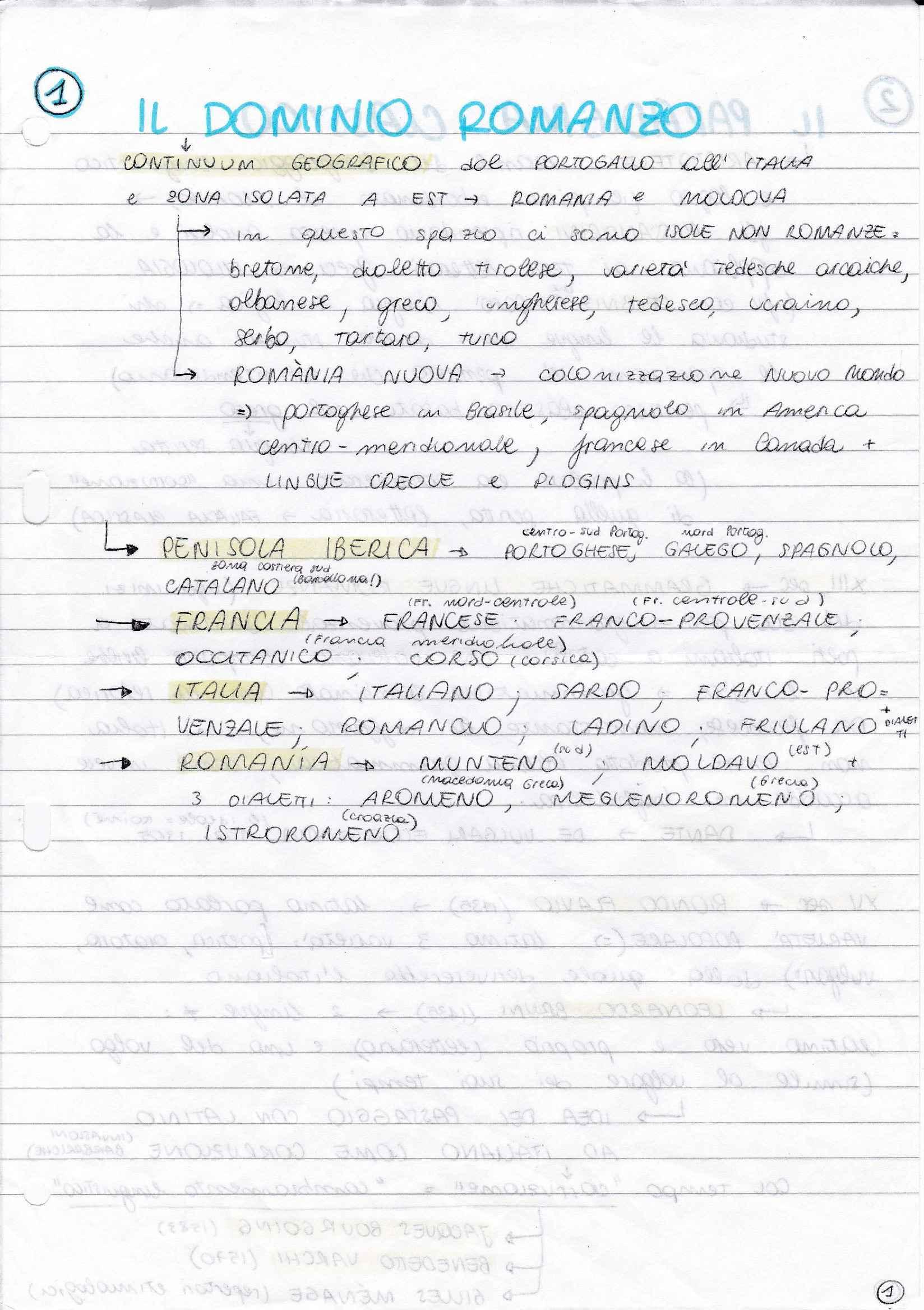 Riassunto esame Filologia Romanza, prof. Concina, libro consigliato Manuale di Linguistica e Filologia Romanza, Renzi, Andreose