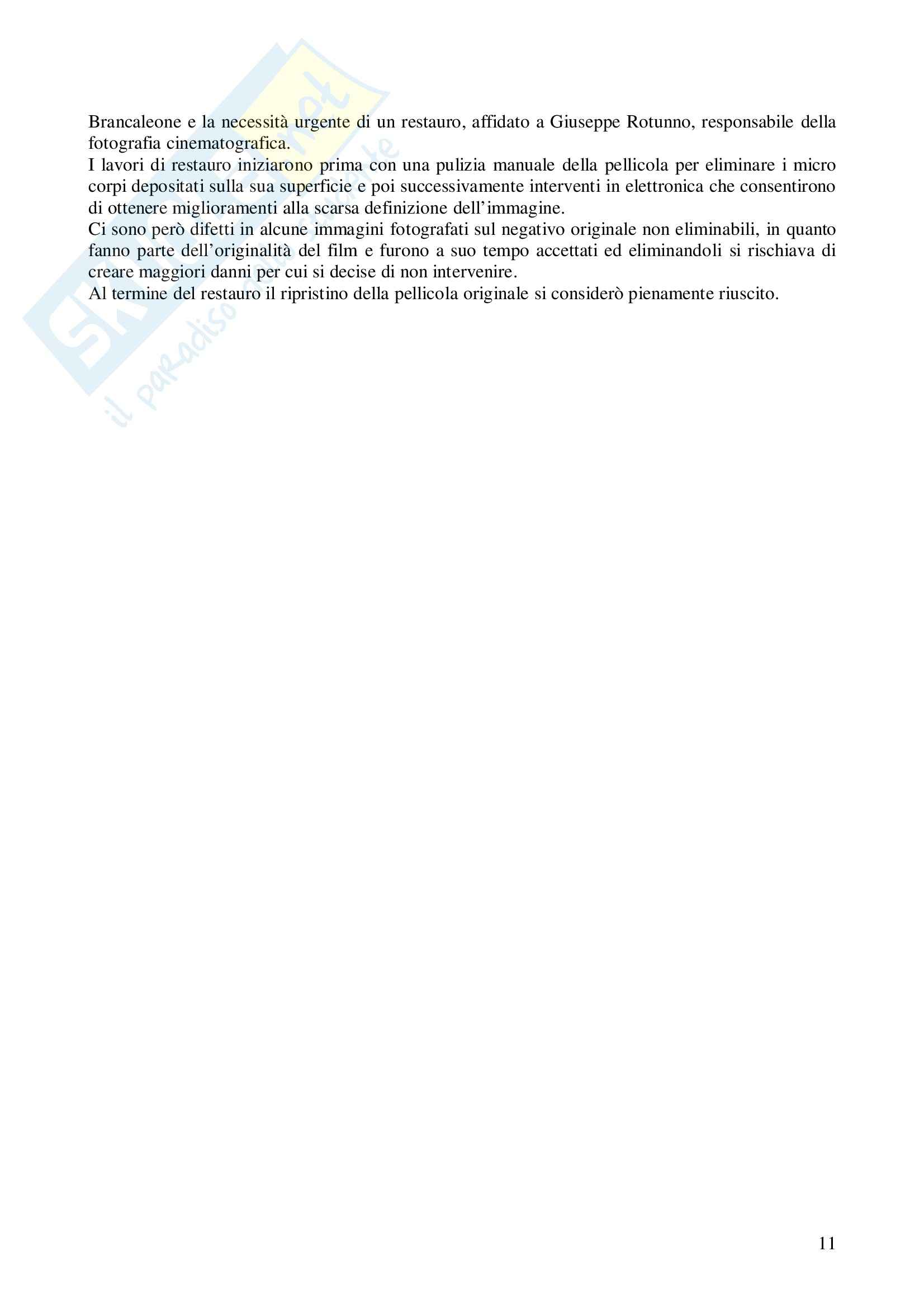 Riassunto esame Storia del Cinema Italiano, prof. indefinito, libro consigliato L'Armata Brancaleone, Della Casa Pag. 11