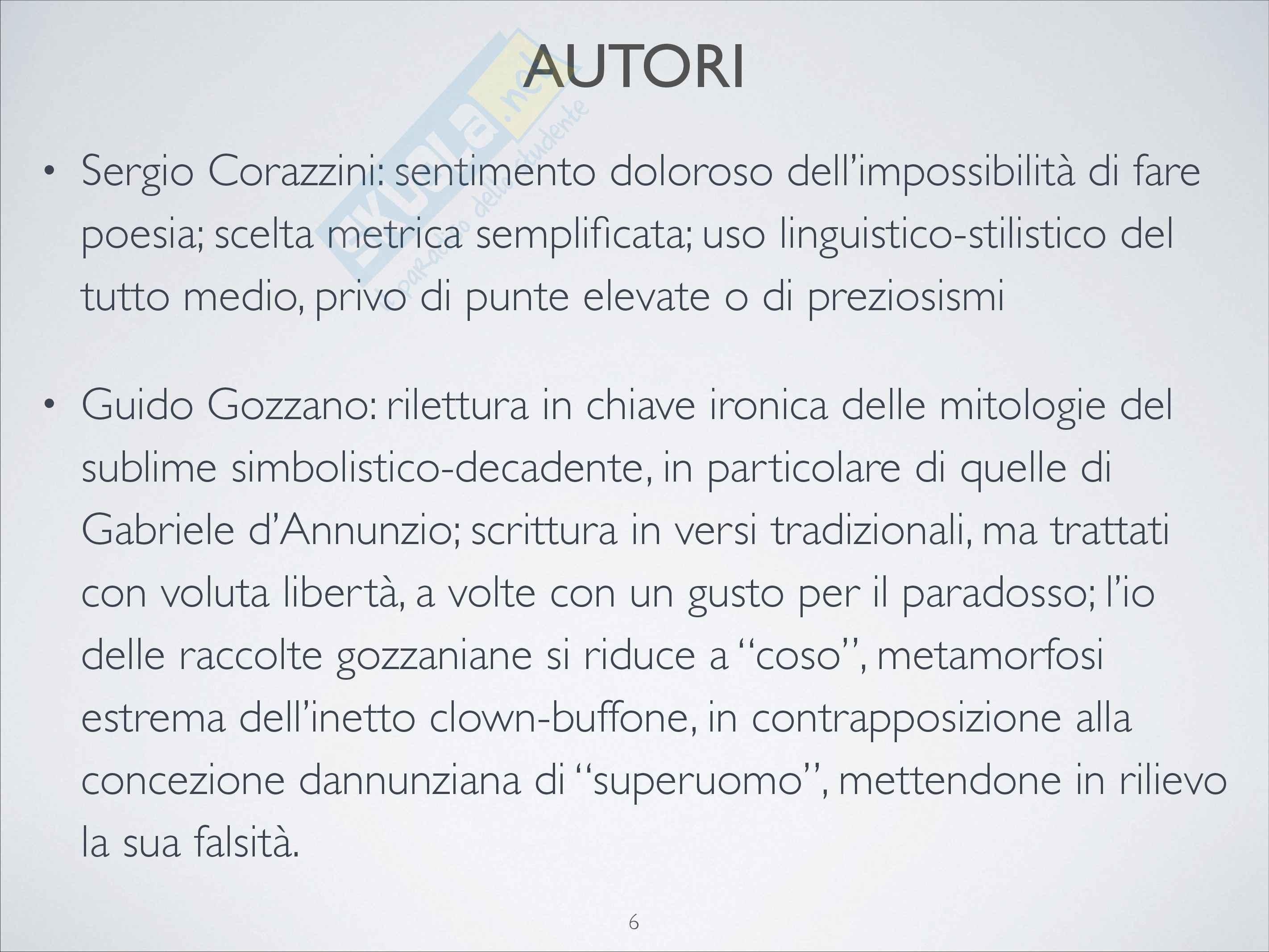 Riassunto esame Letteratura italiana contemporanea, prof. Tomasello Pag. 6