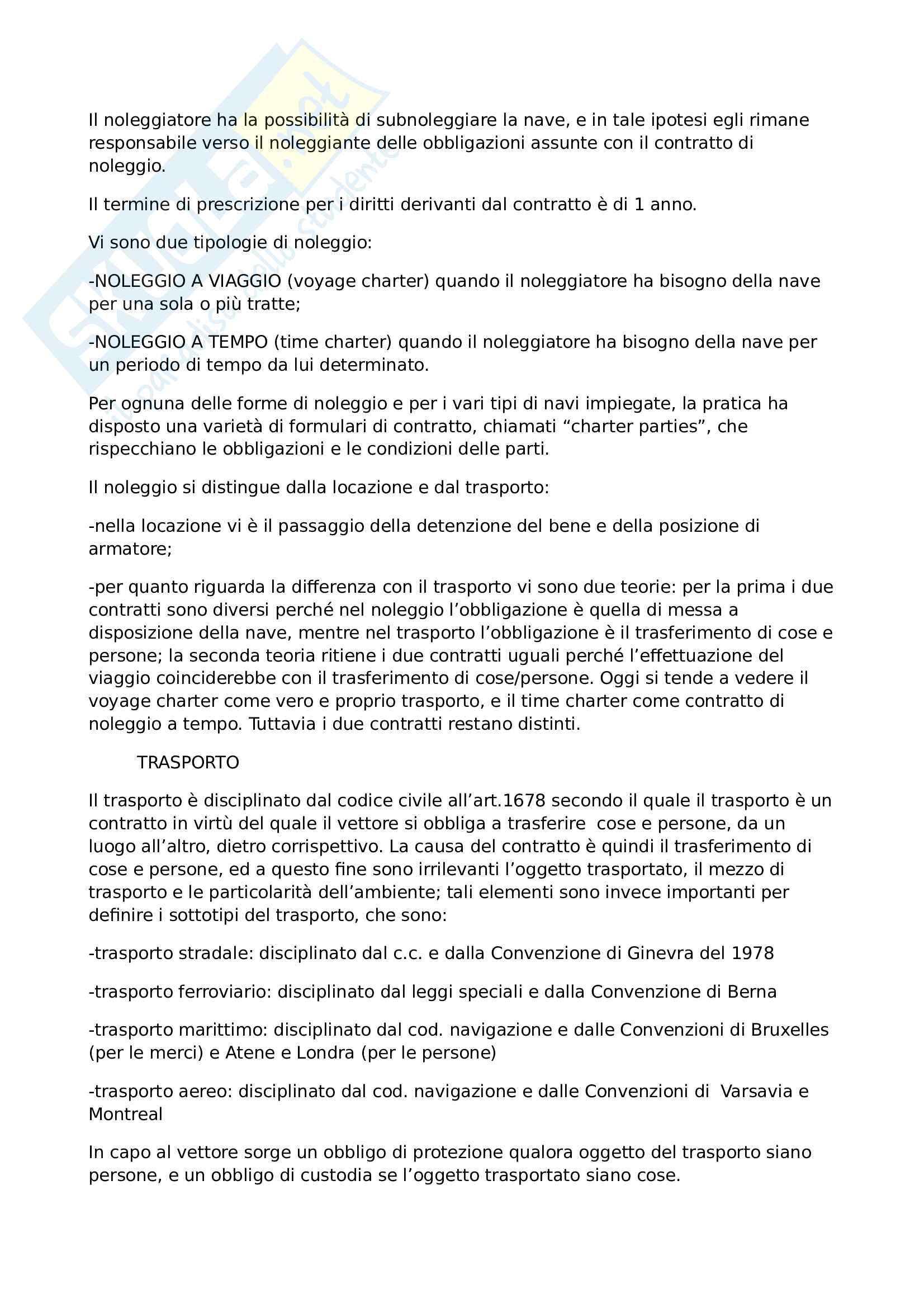 Esame diritto dei trasporti, riassunto completo Pag. 6