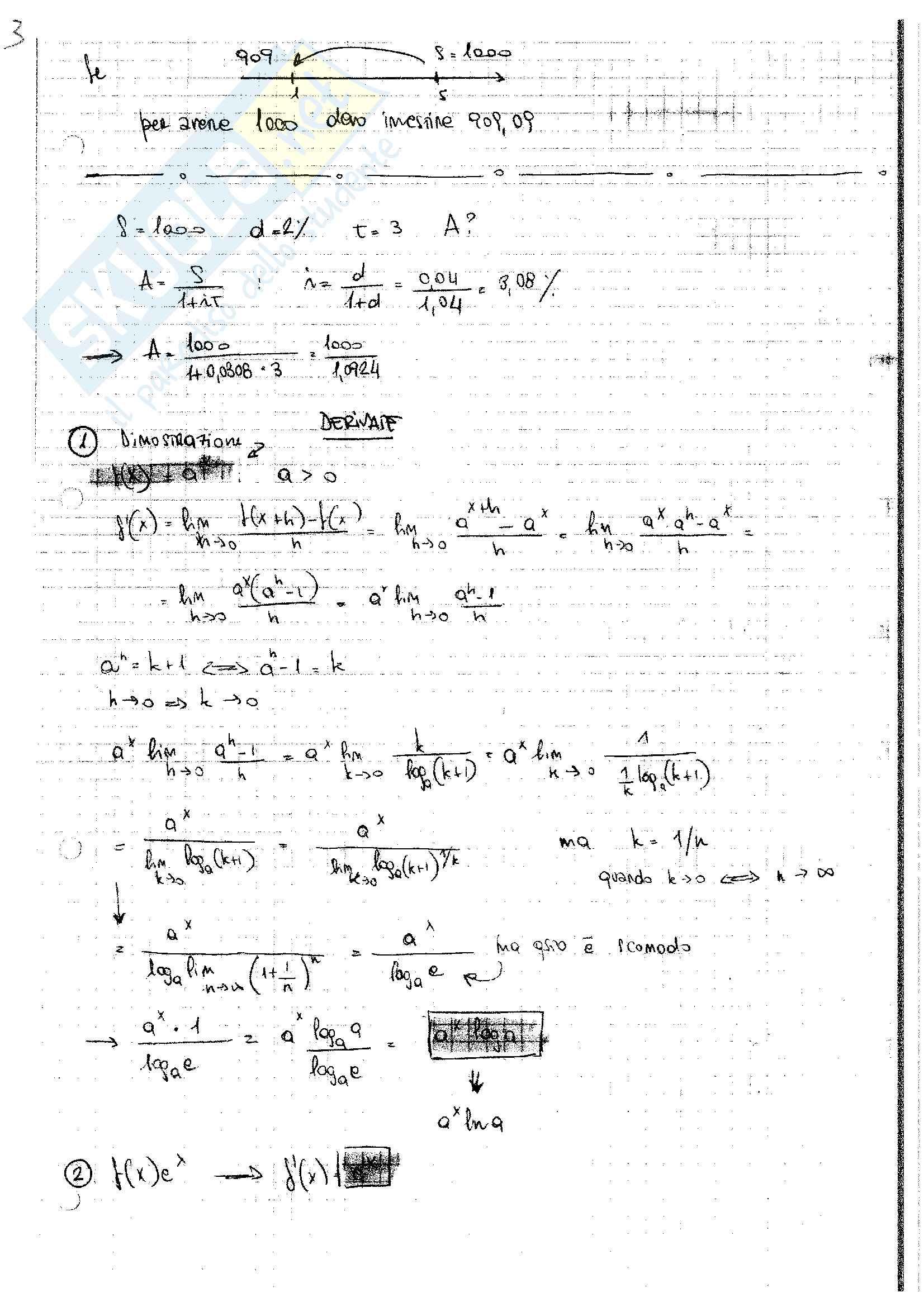 Matematica per l'azienda (3° parte)