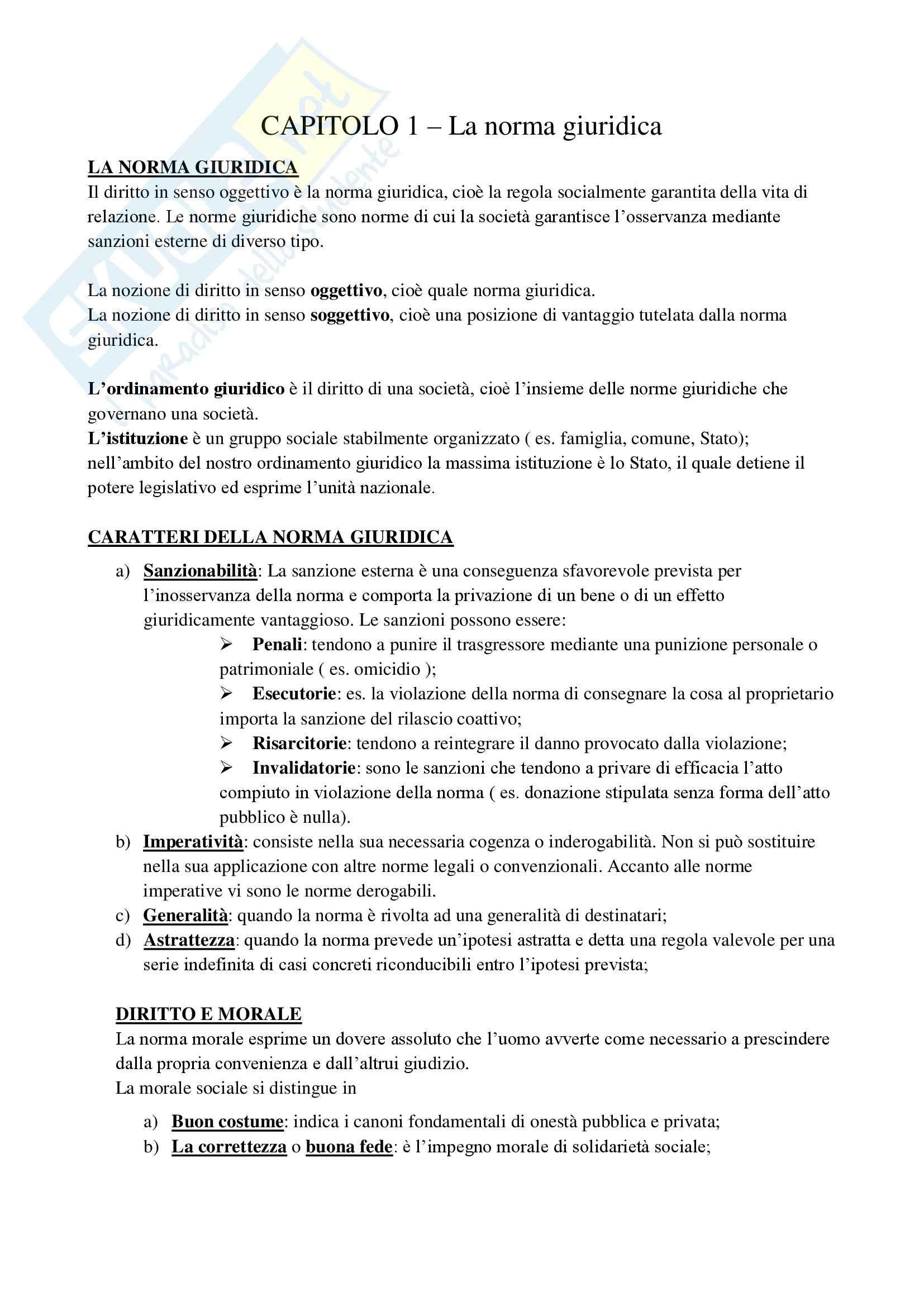 Diritto privato e della comunicazione - Appunti