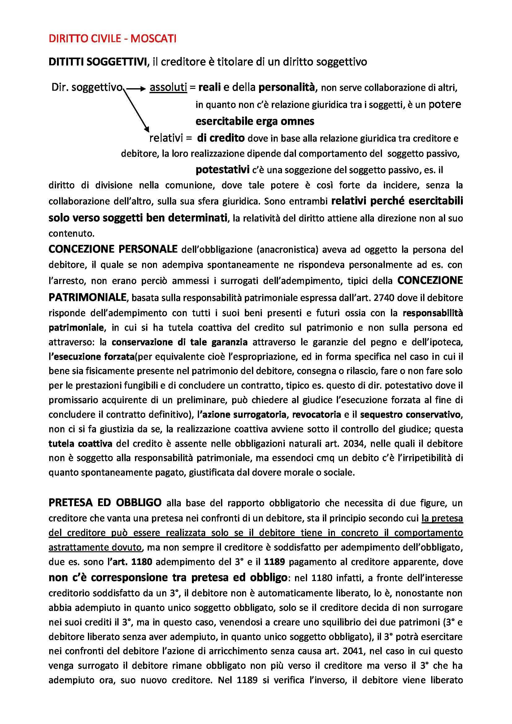 Diritto civile - Appunti