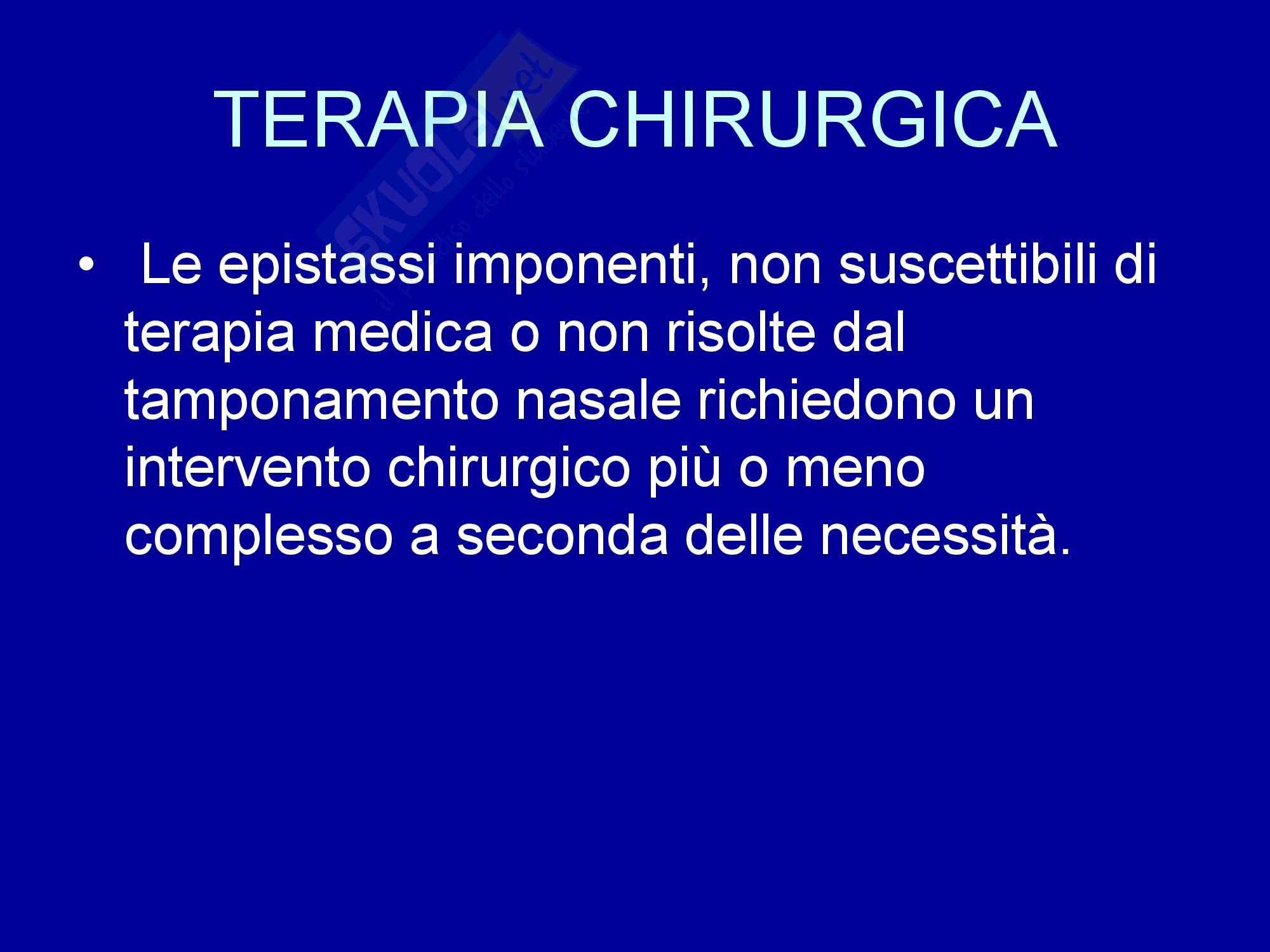Otorinolaringoiatria - Epistassi Pag. 11