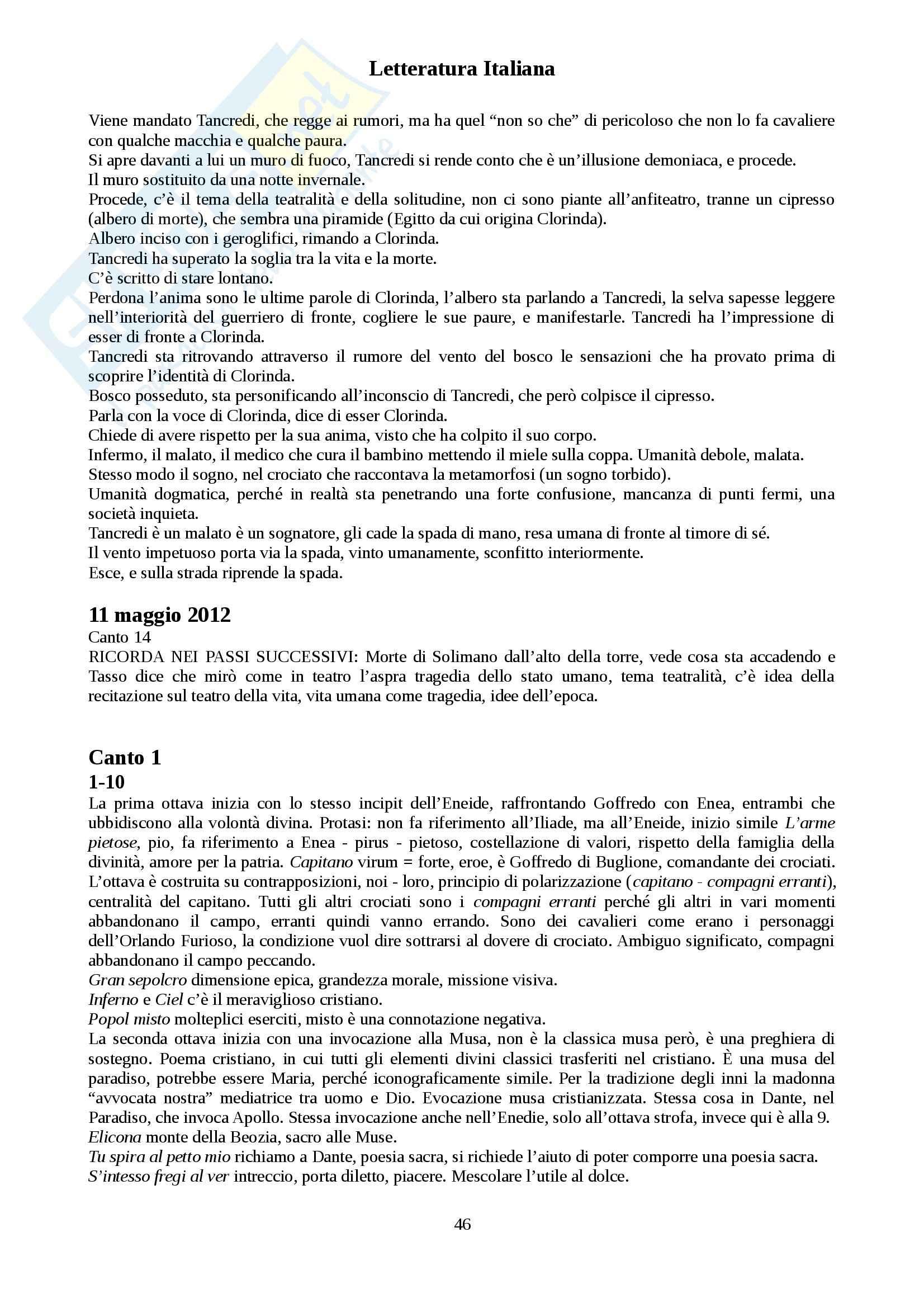 Letteratura Italiana - Appunti Pag. 46