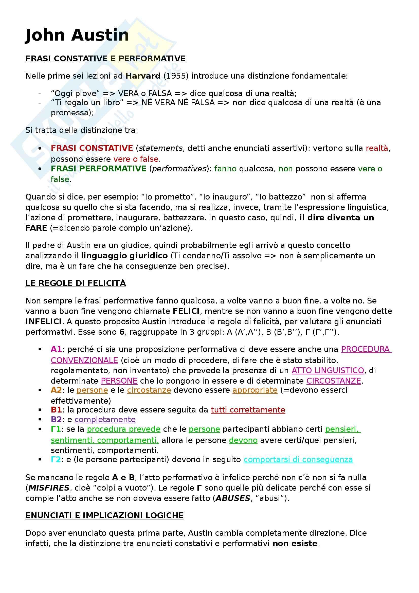 appunto M. Baggio Linguistica Italiana