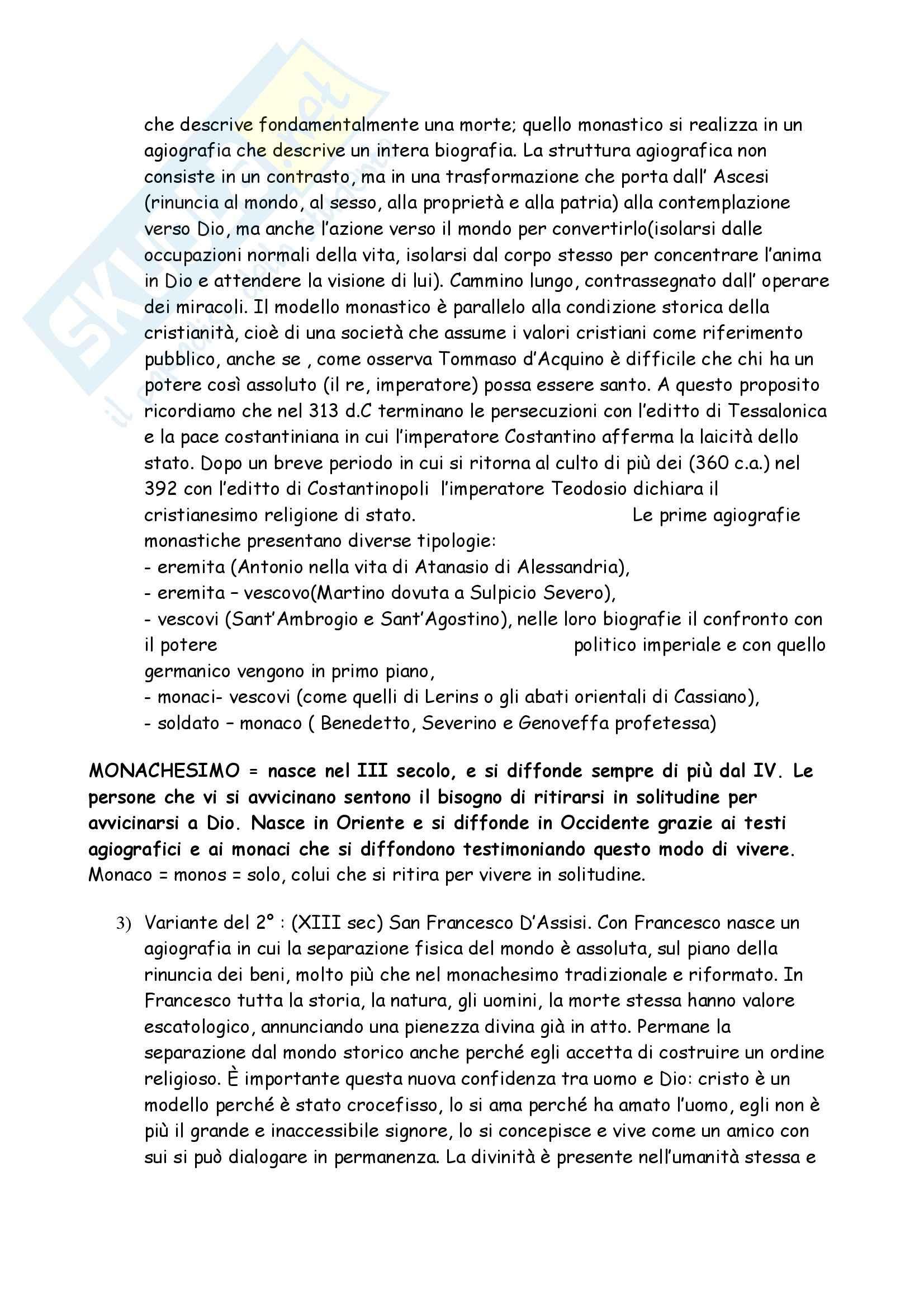 Agiografia - i modelli agiografici Pag. 2