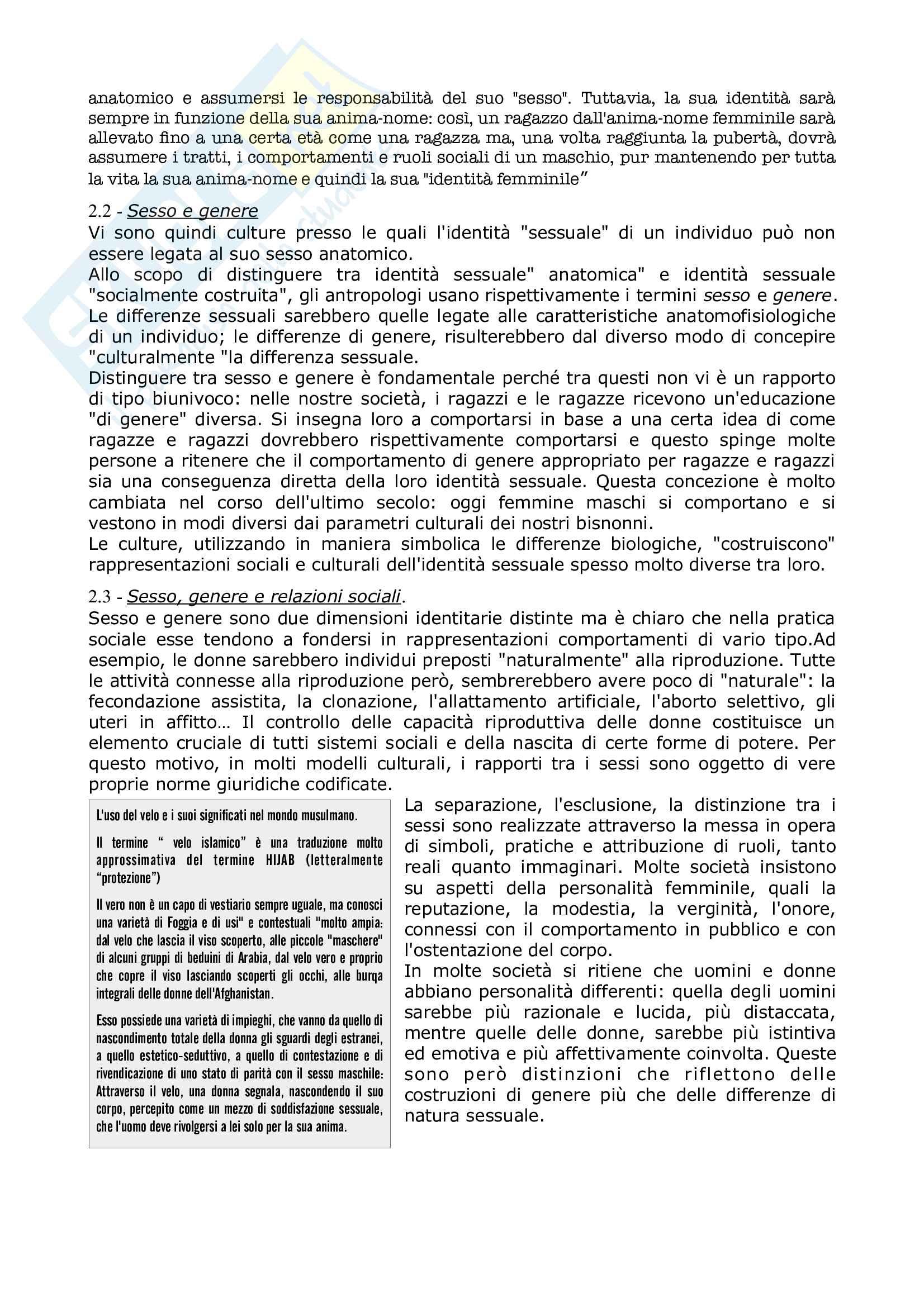 Riassunto esame Antropologia culturale, prof Natali, libro consigliato Elementi di antropologia Culturale, Fabietti Pag. 26
