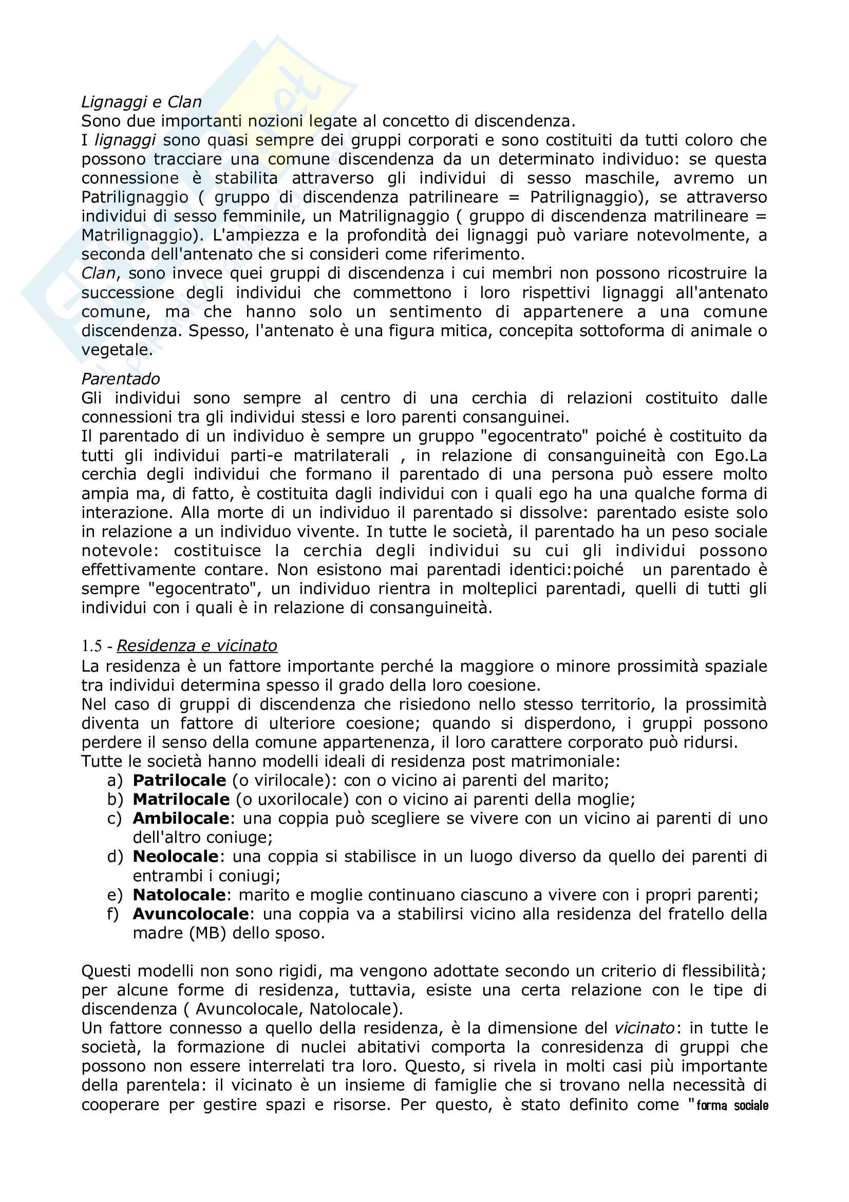 Riassunto esame Antropologia culturale, prof Natali, libro consigliato Elementi di antropologia Culturale, Fabietti Pag. 31