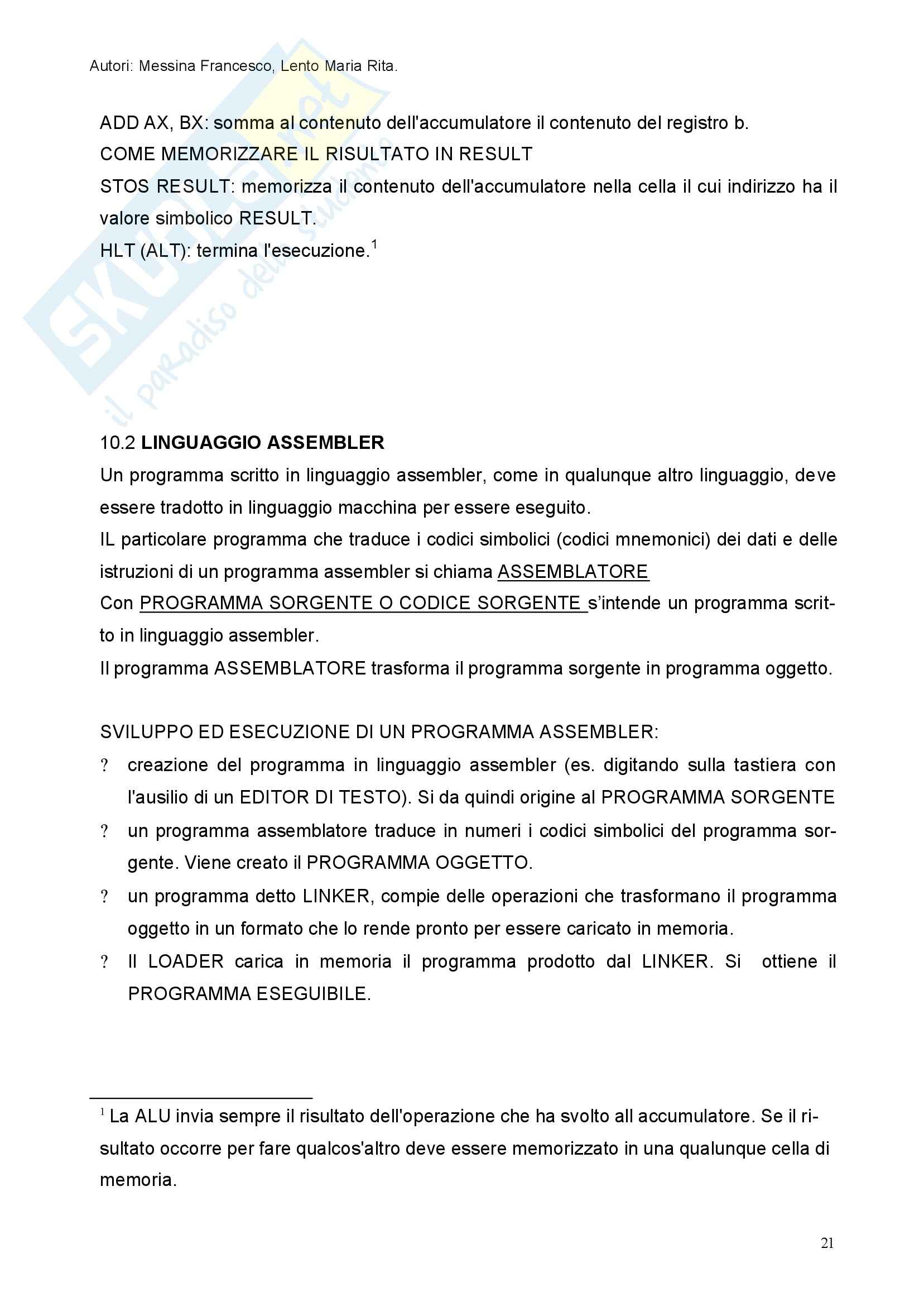 Informatica di base - nozioni generali Pag. 21