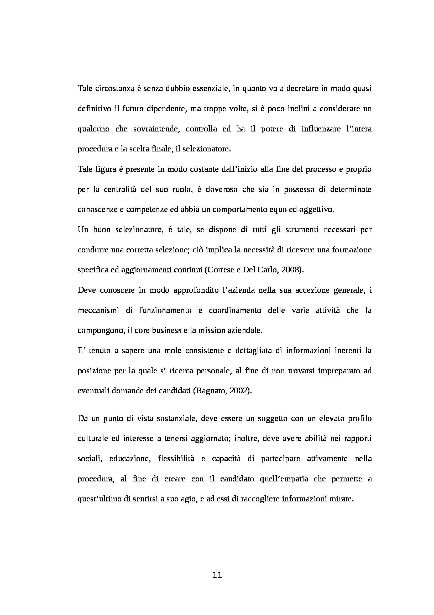 Tesi - I processi di selezione del personale Pag. 11