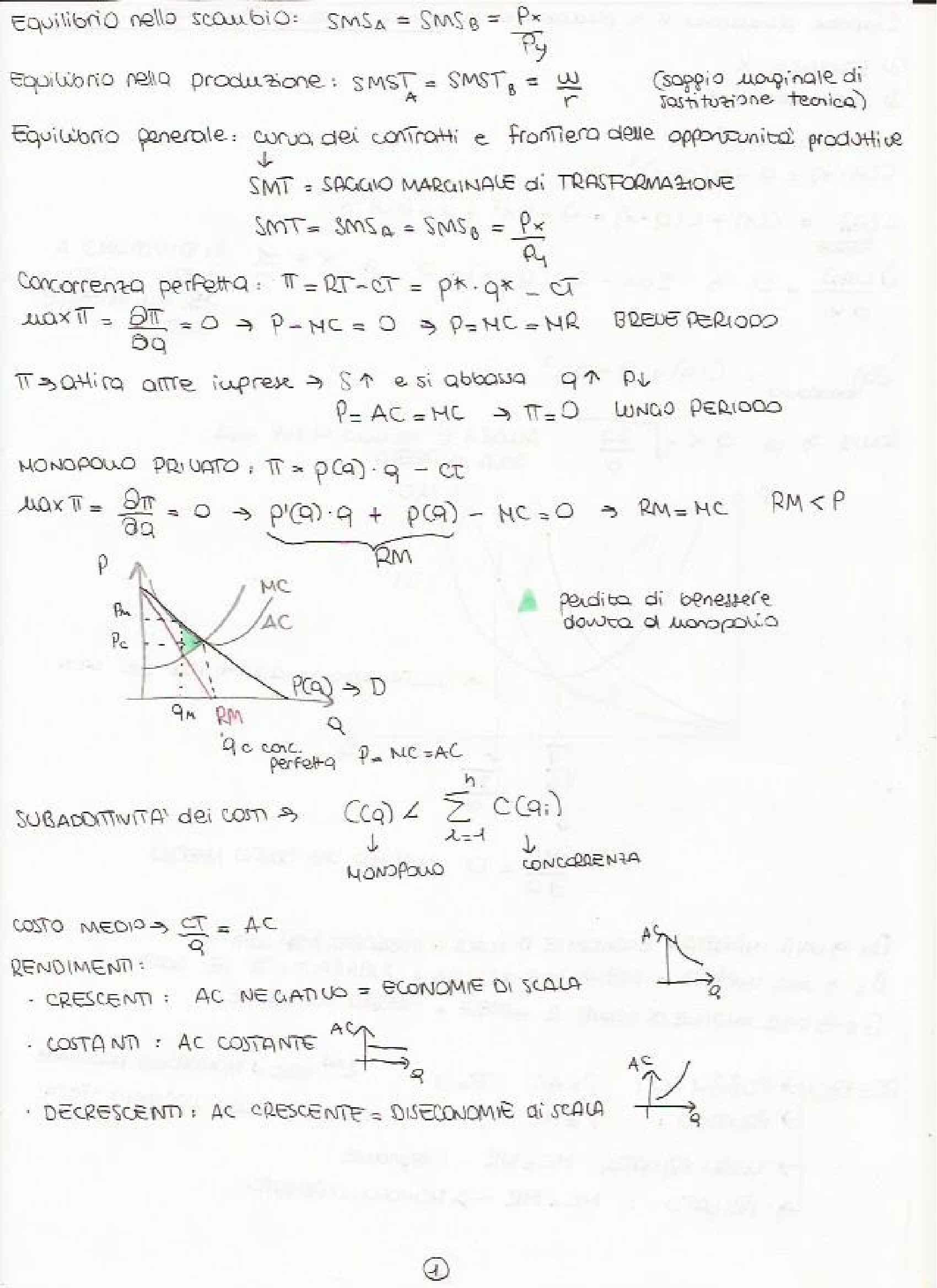 Scienza delle Finanze - Appunti e Esercizi