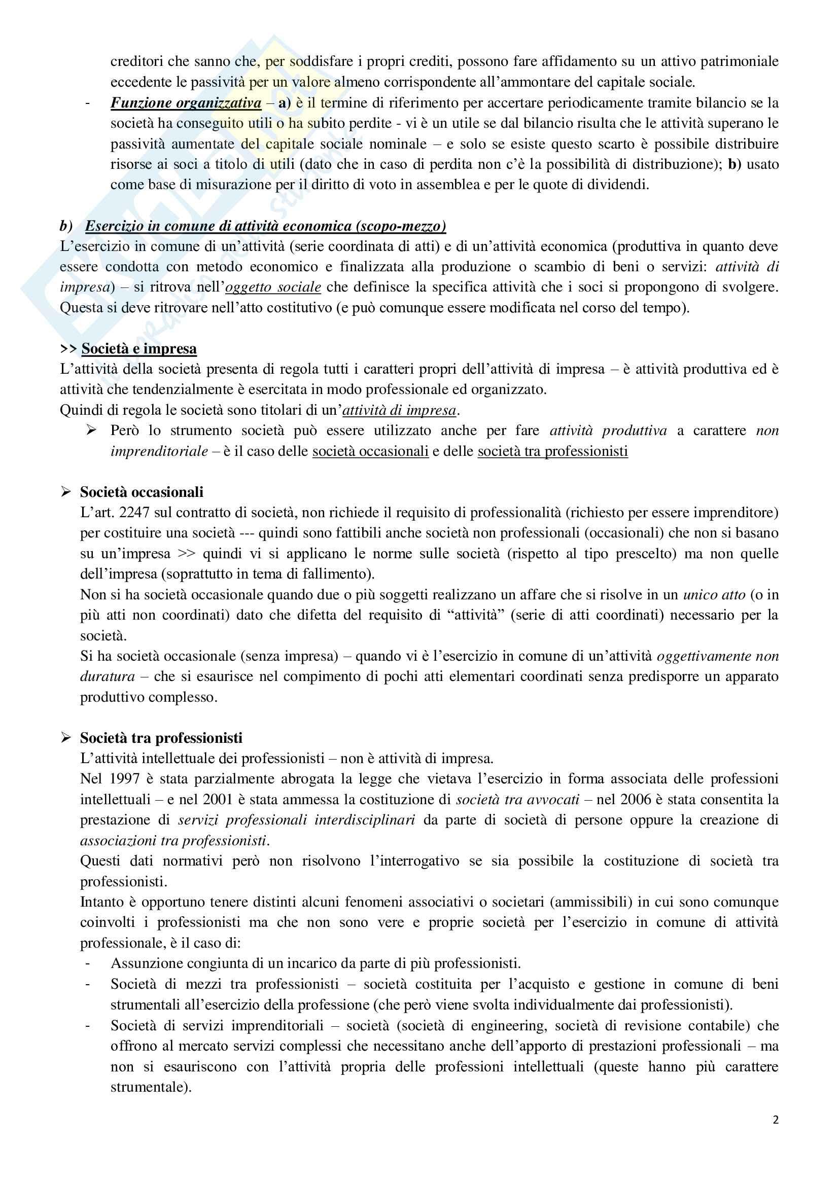 Riassunto di Diritto societario e commerciale Pag. 2