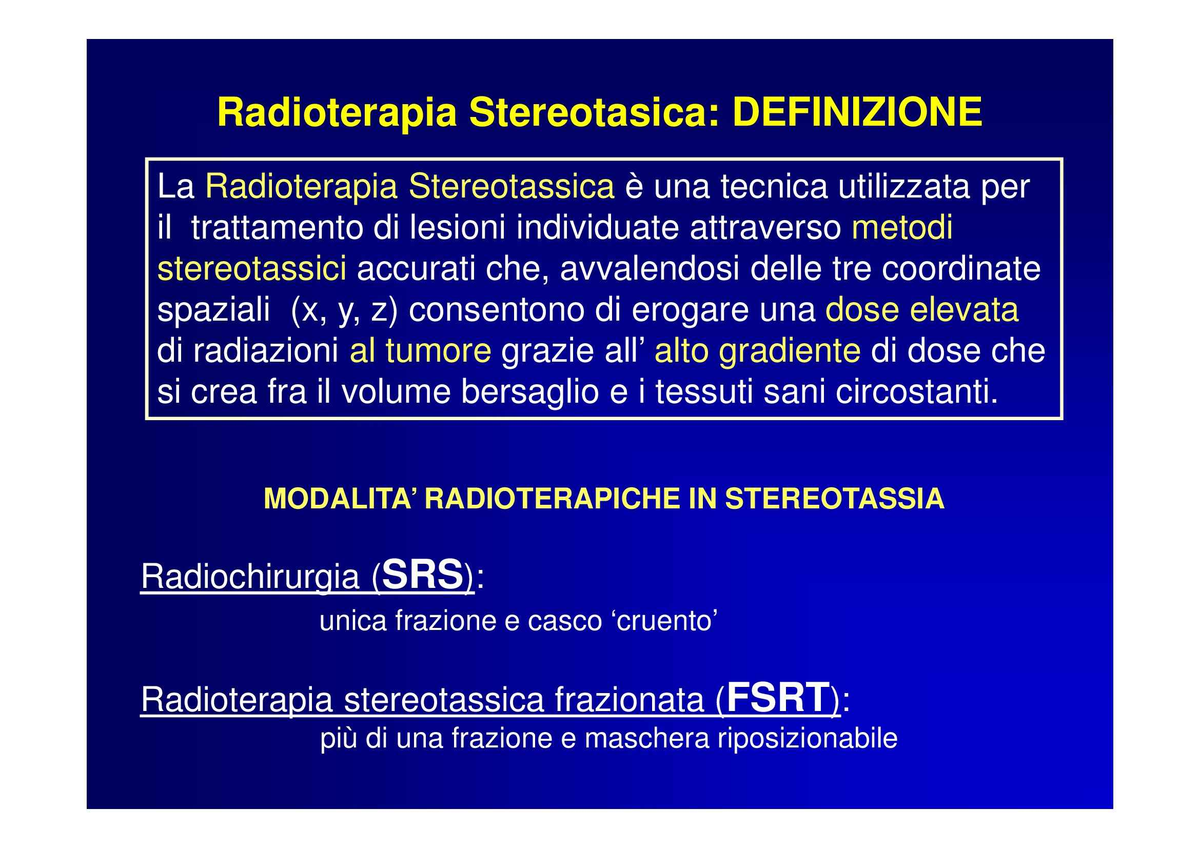Radioterapia stereotasica