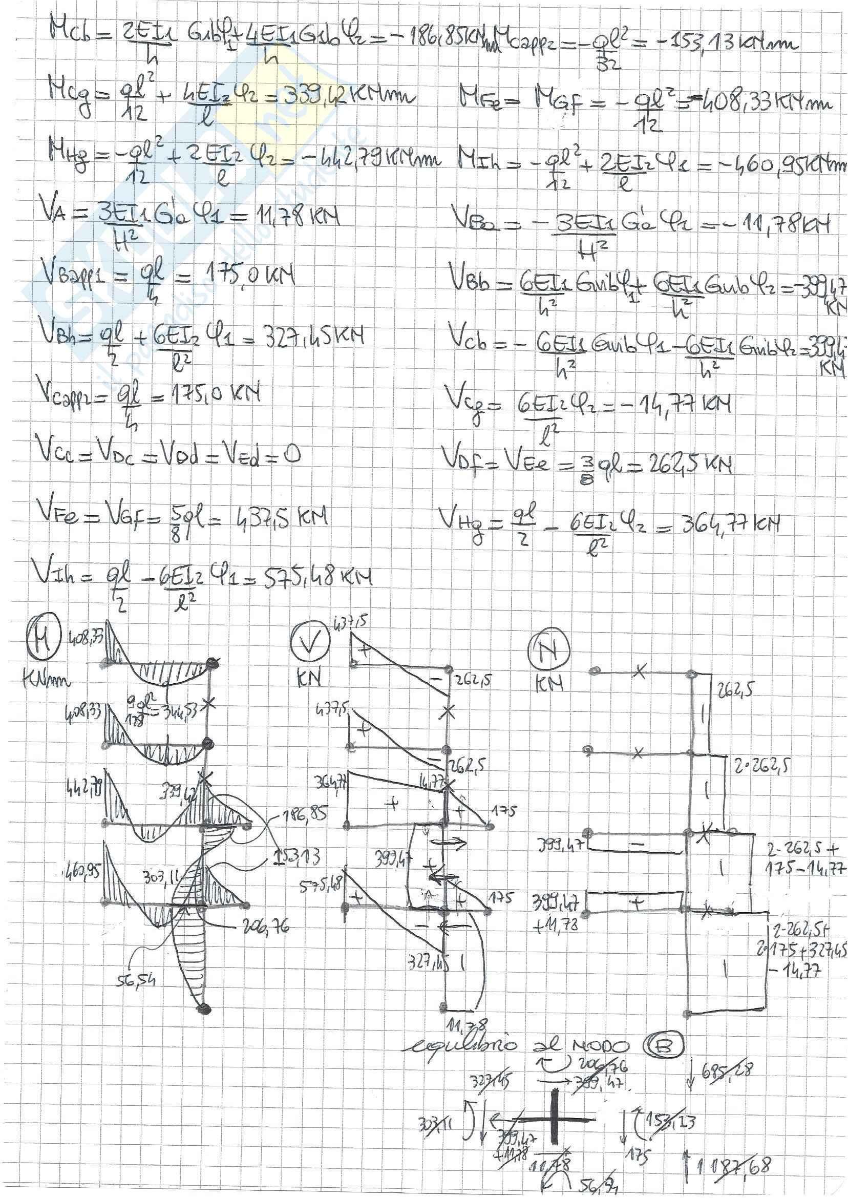 Tecnica delle Costruzioni II - Temi D'Esame B (Svolti) Pag. 26