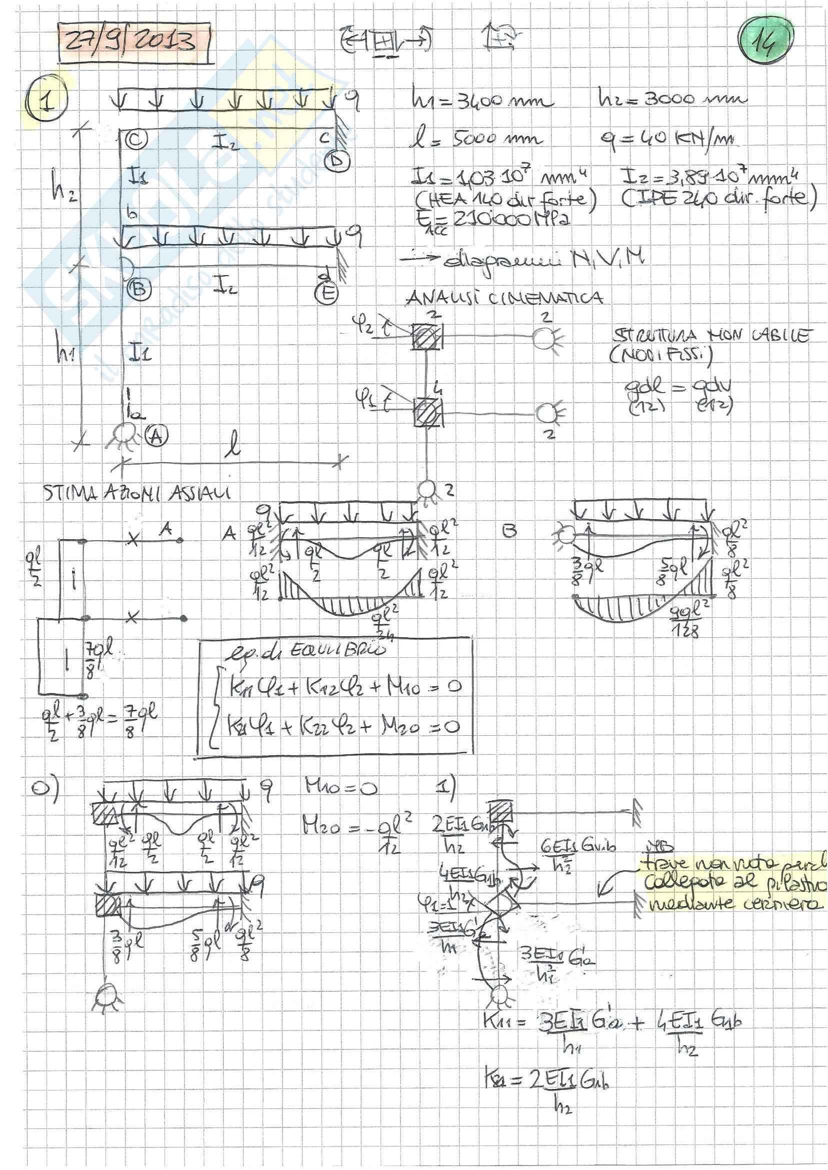 Tecnica delle Costruzioni II - Temi D'Esame B (Svolti) Pag. 6