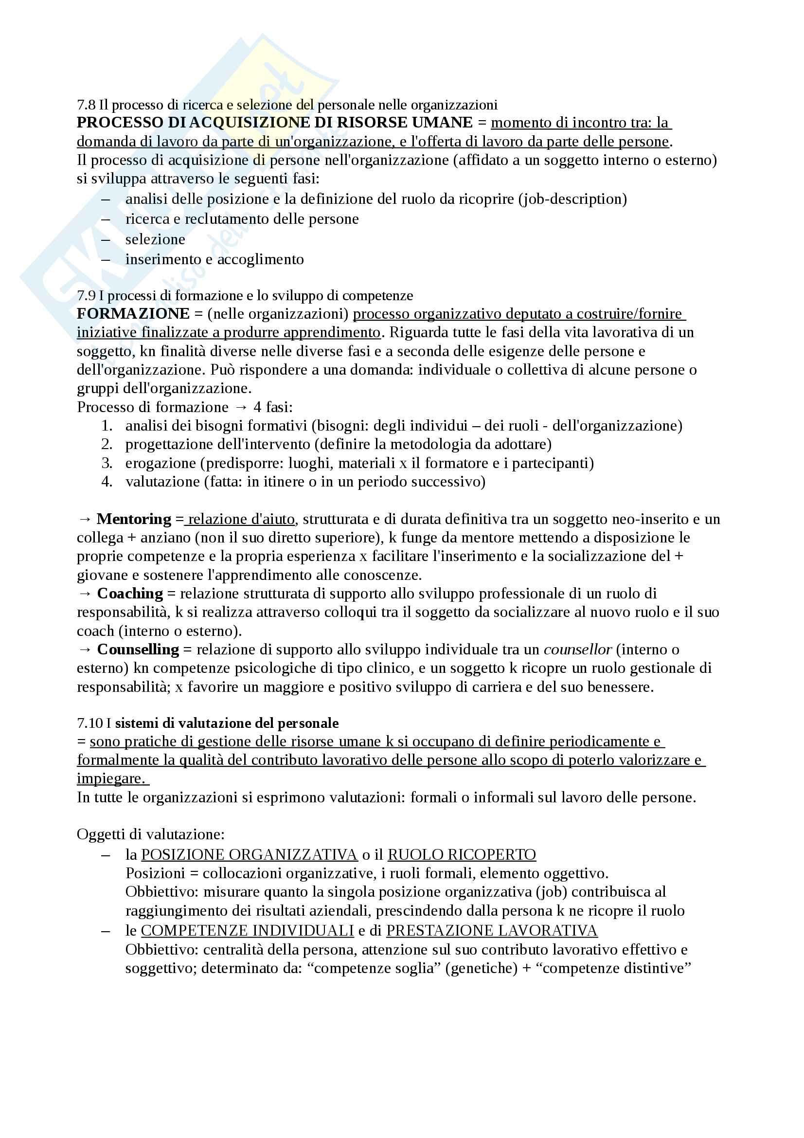 Riassunto esame economia, prof. Giacomo Magnani. Libro consigliato Economia e organizzazione aziendale, Autore Fabio Antoldi Pag. 21