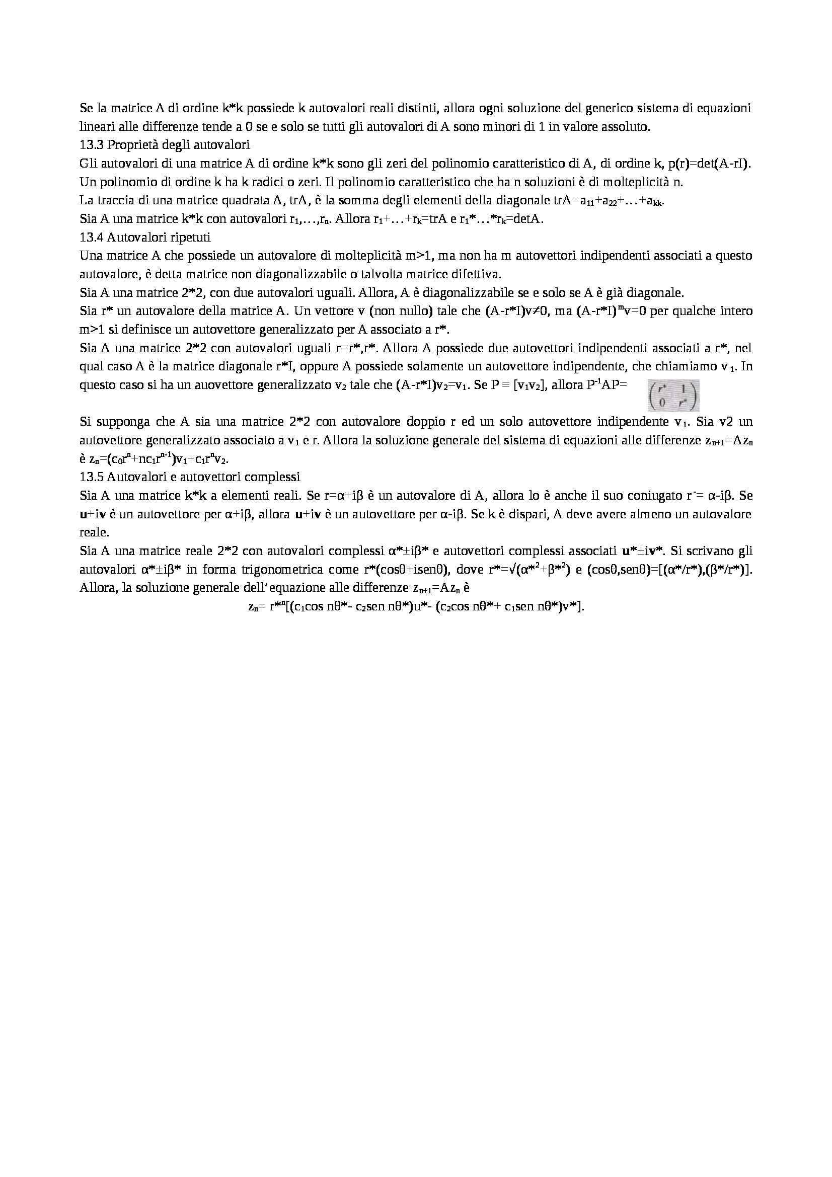 Riassunto esame Matematica per l'Economia, prof. Ferretti, libro consigliato Matematica 2: per l'Economia e le Scienze, Simon, Blume - parte prima Pag. 11