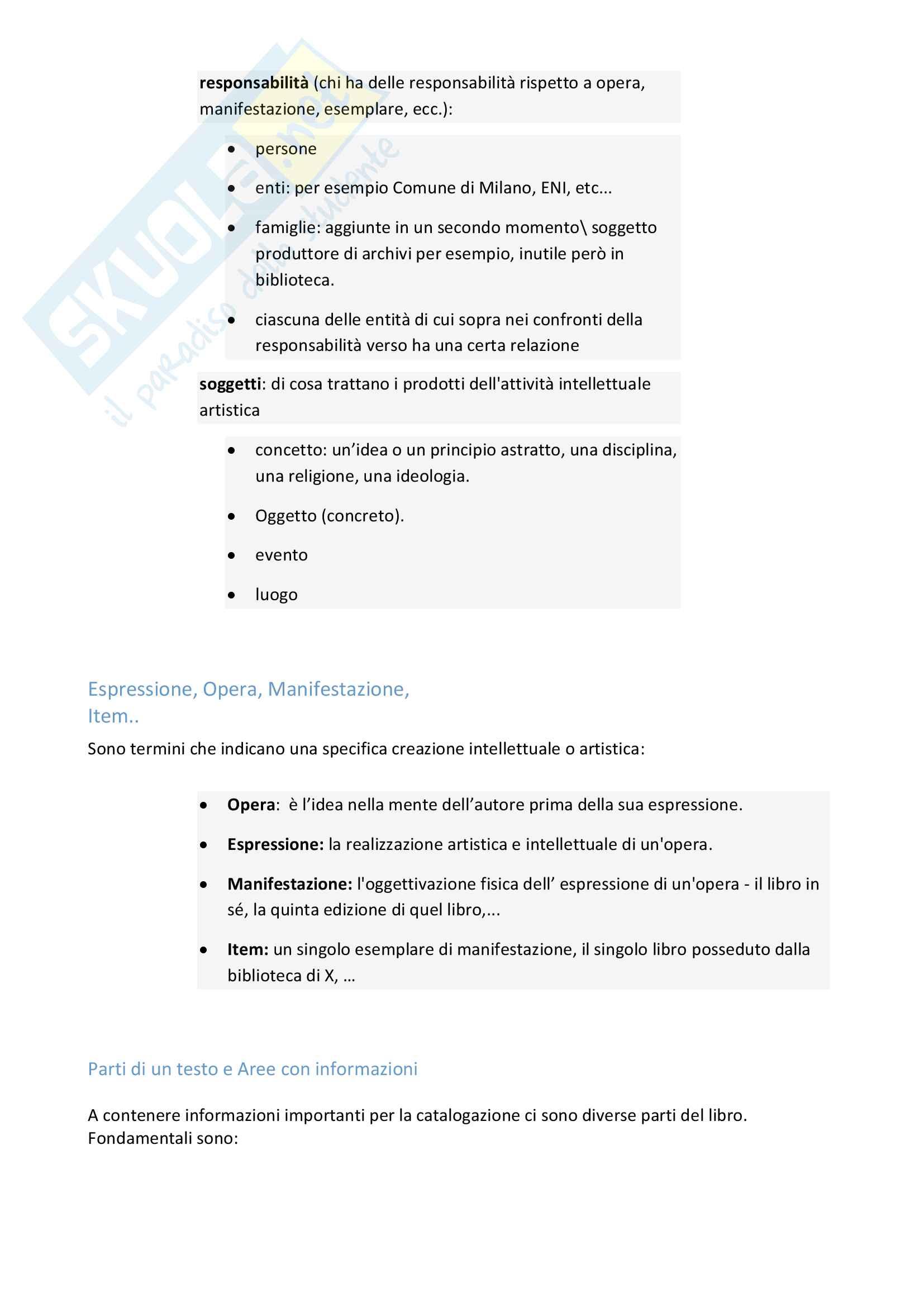 Riassunto esame Biblioteconomia, prof. Venuda, libro consigliato: Manuale di Biblioteconomia di Giorgio Montecchi e Fabio Venuda Pag. 16