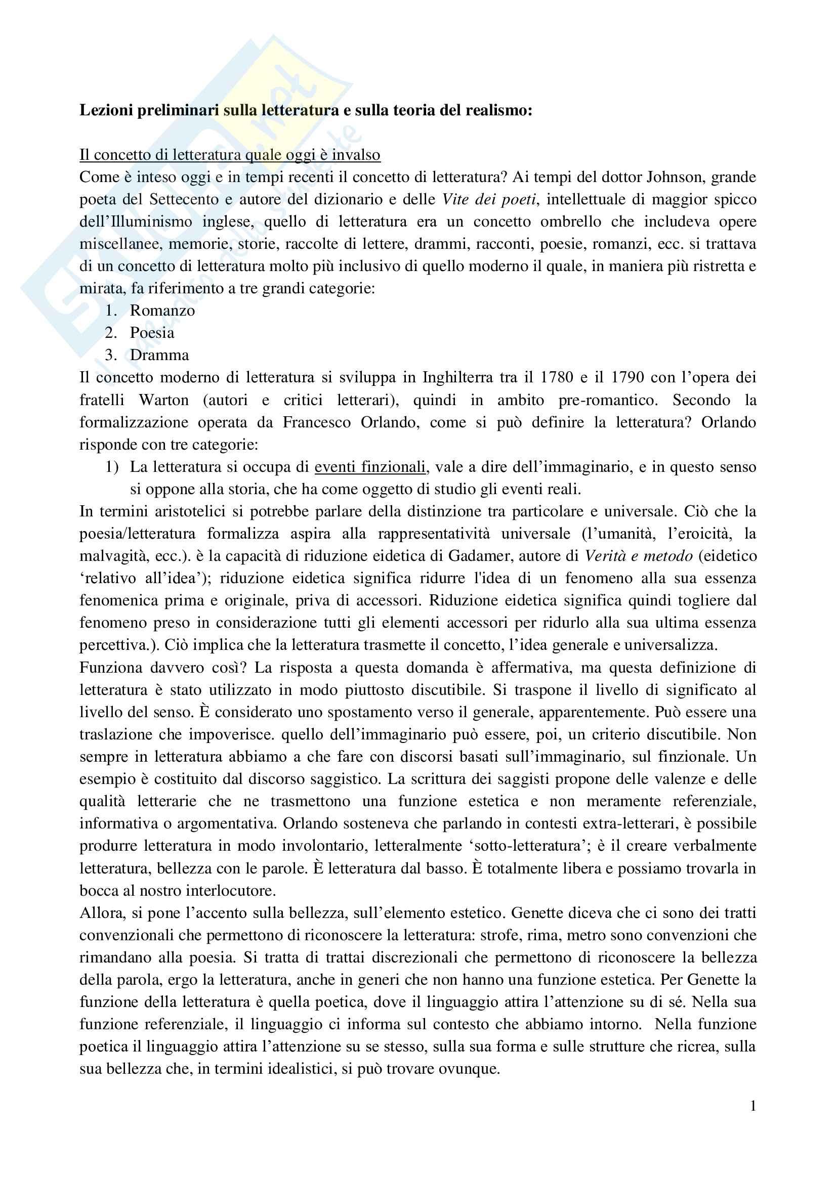 Appunti Letteratura inglese Contemporanea Teoria Critica Analisi del testo