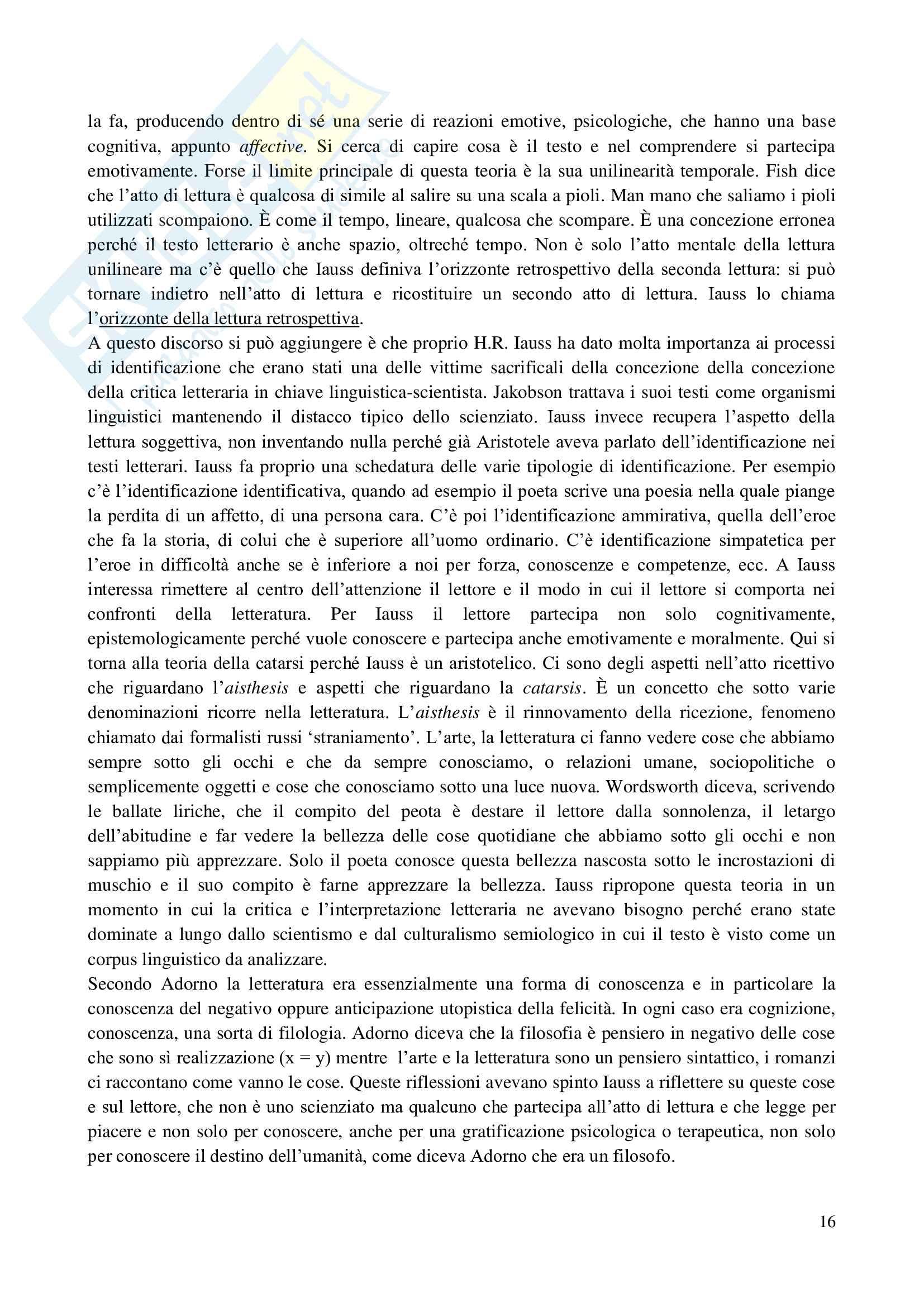 Appunti Letteratura inglese Contemporanea Teoria Critica Analisi del testo Pag. 16
