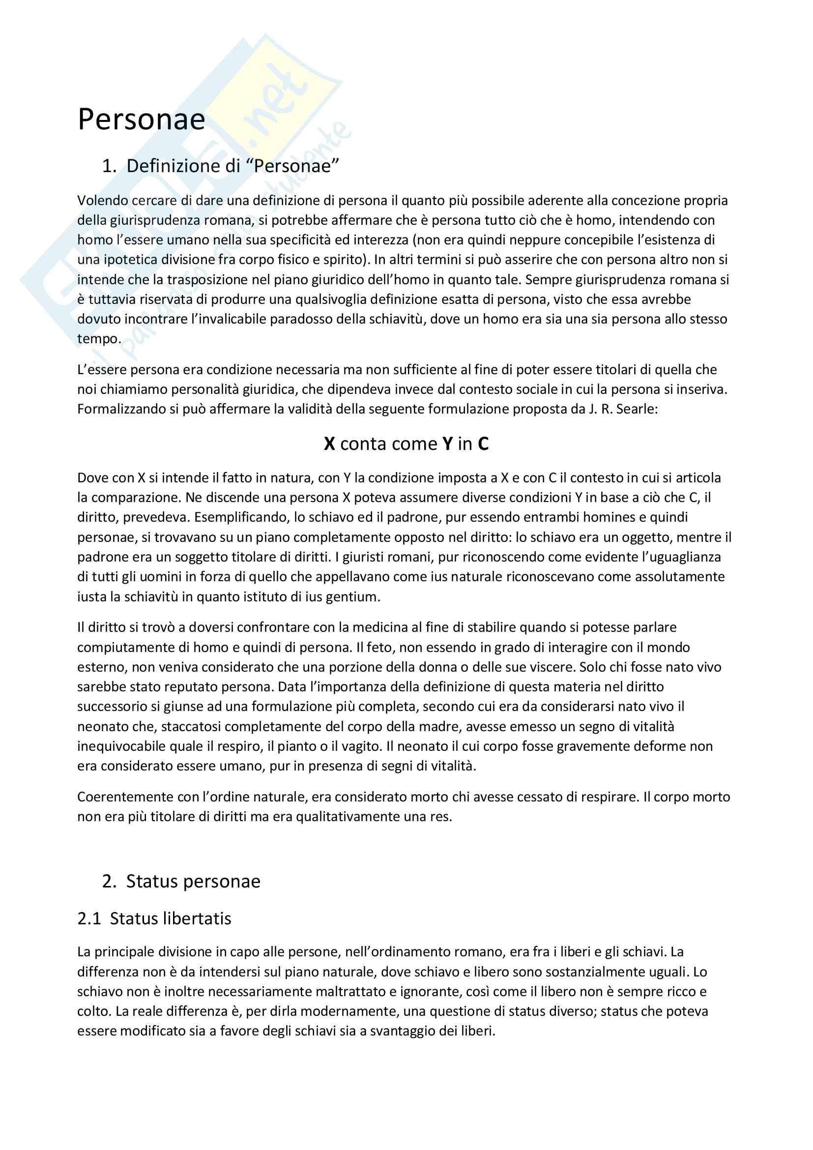 Riassunto Istituzioni Diritto Romano (corso AK)