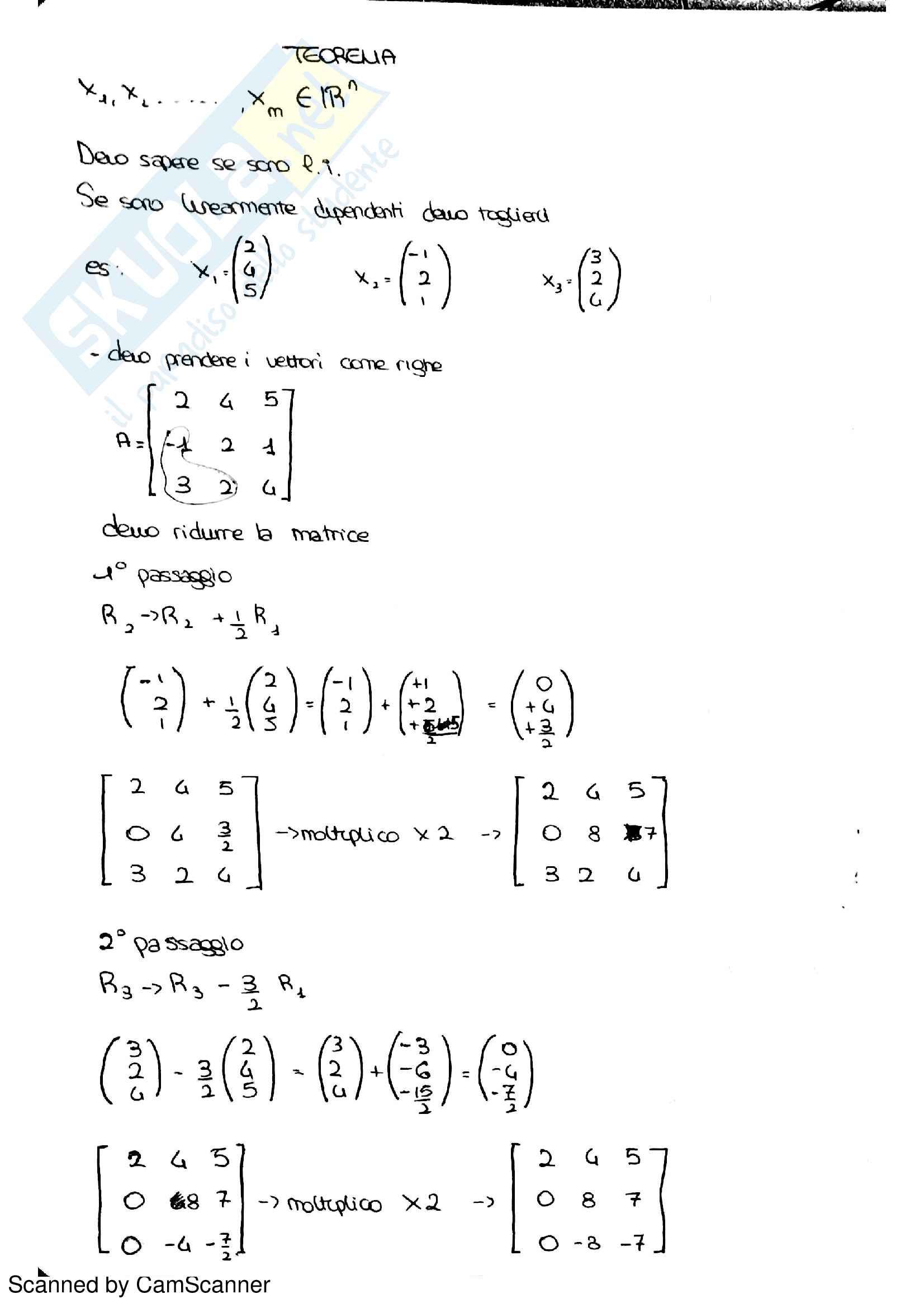 Algebra lineare Pag. 26