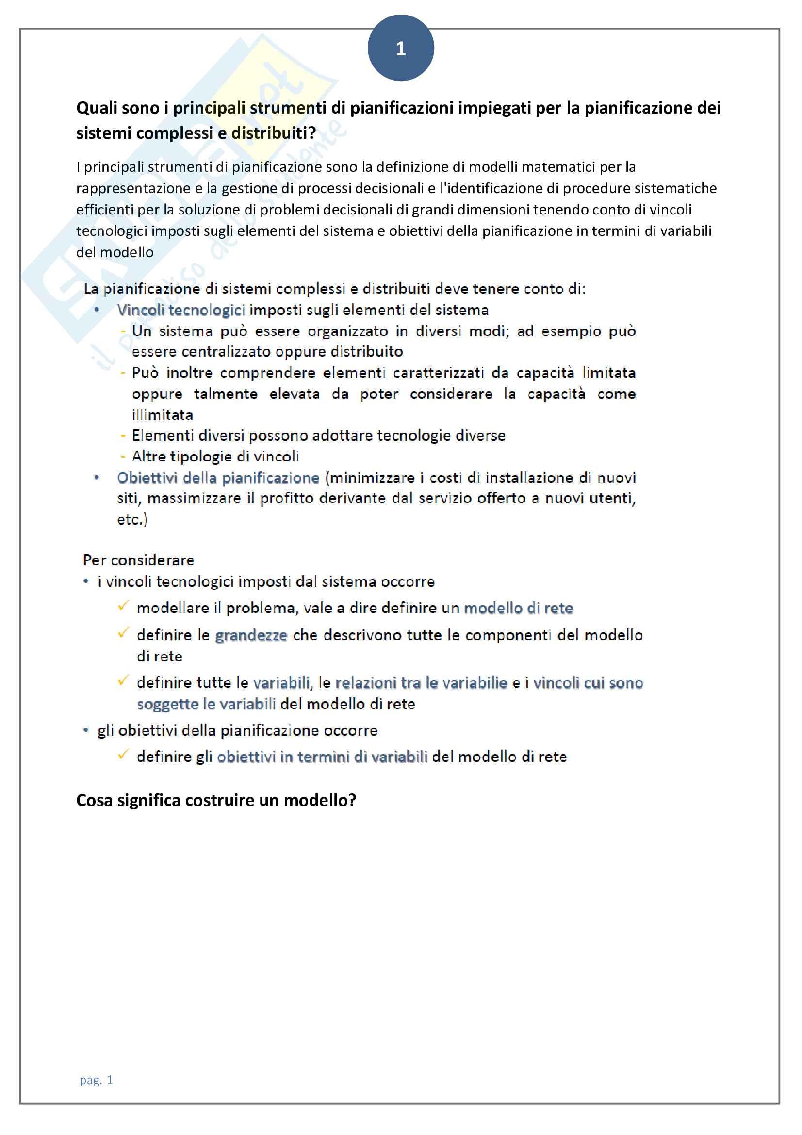 Domande aperte rivisitate e corrette di ricerca operativa 2