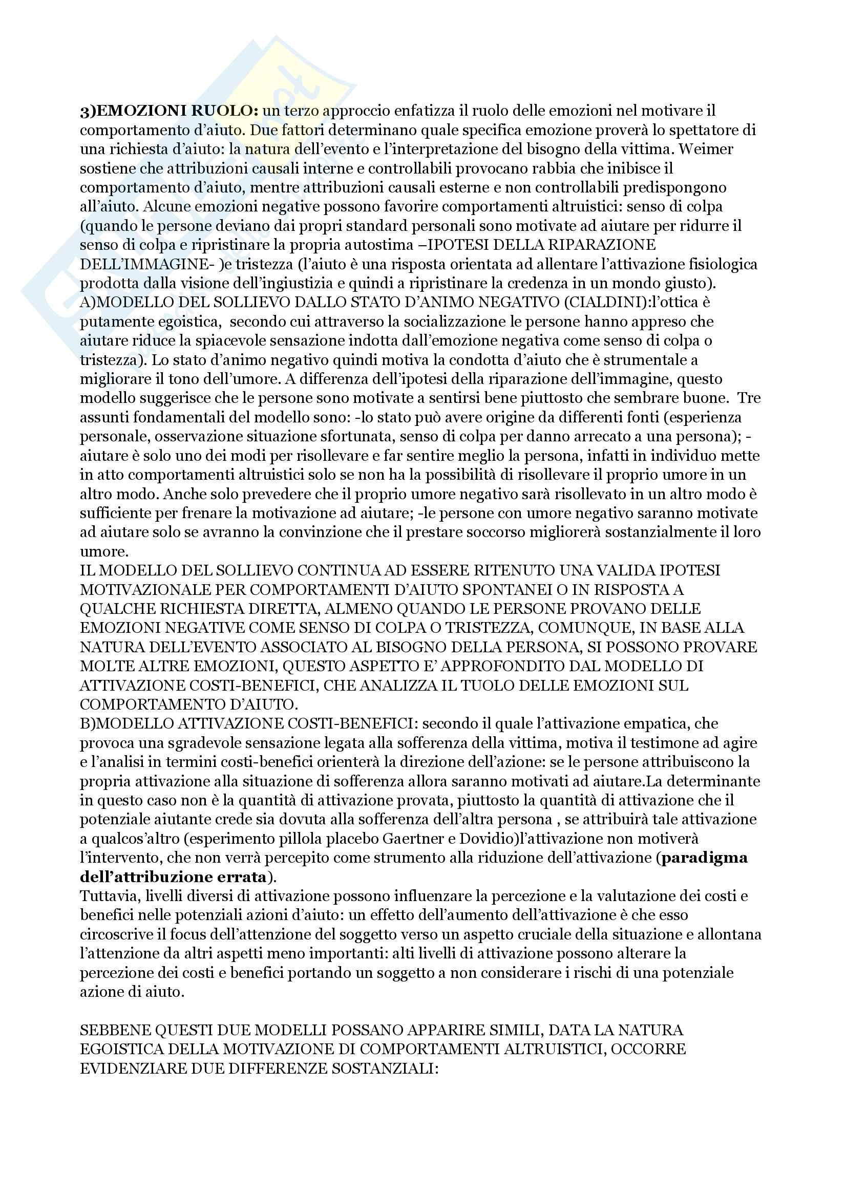 Riassunto esame Psicologia Sociale, prof.Scopelliti, libro consigliato ''Introduzione alla psicologia sociale'', Bocchiaro,  Abbate, Boca Pag. 31