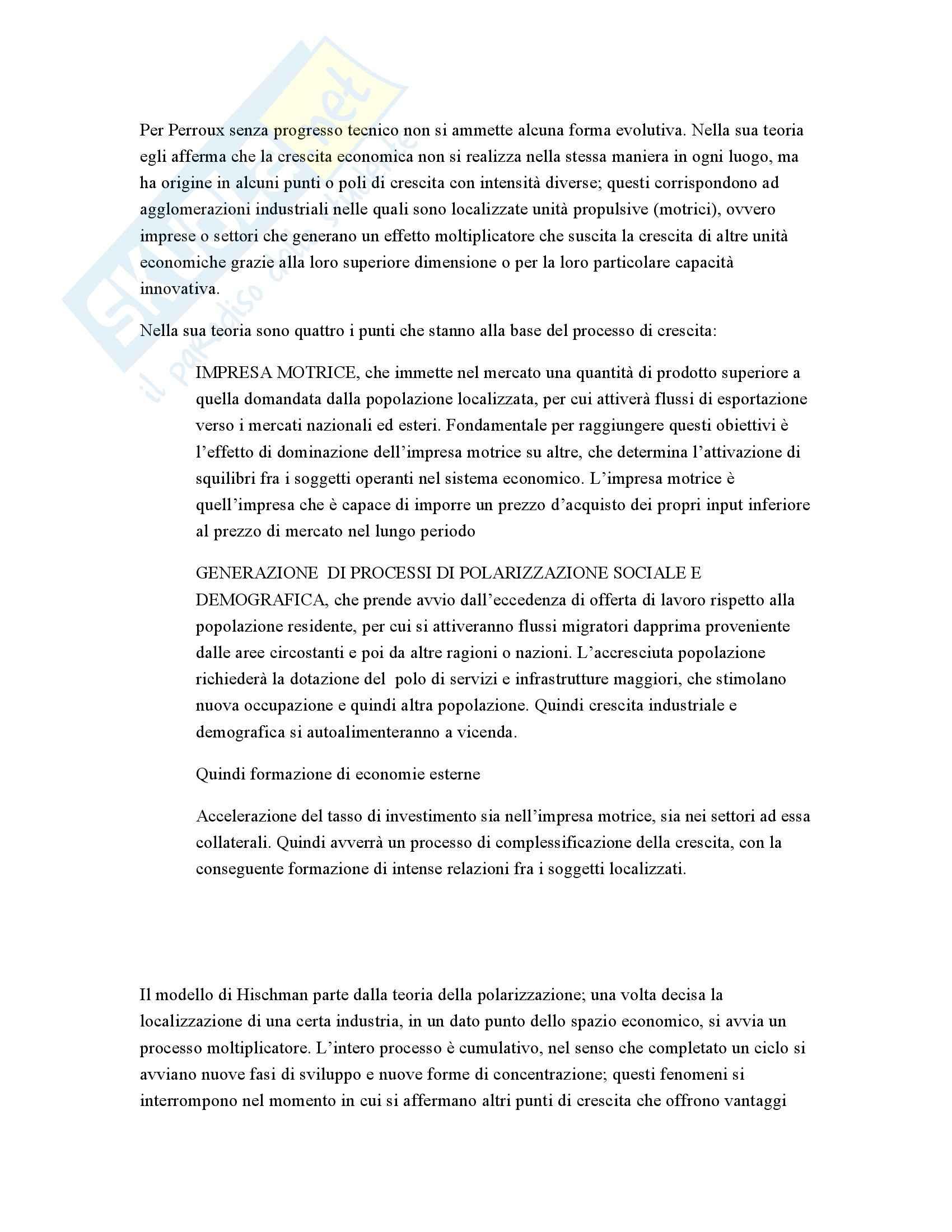 Riassunto esame Geografia economica, prof. Mininno, libro consigliato Teorie e metodi, Conti Pag. 2