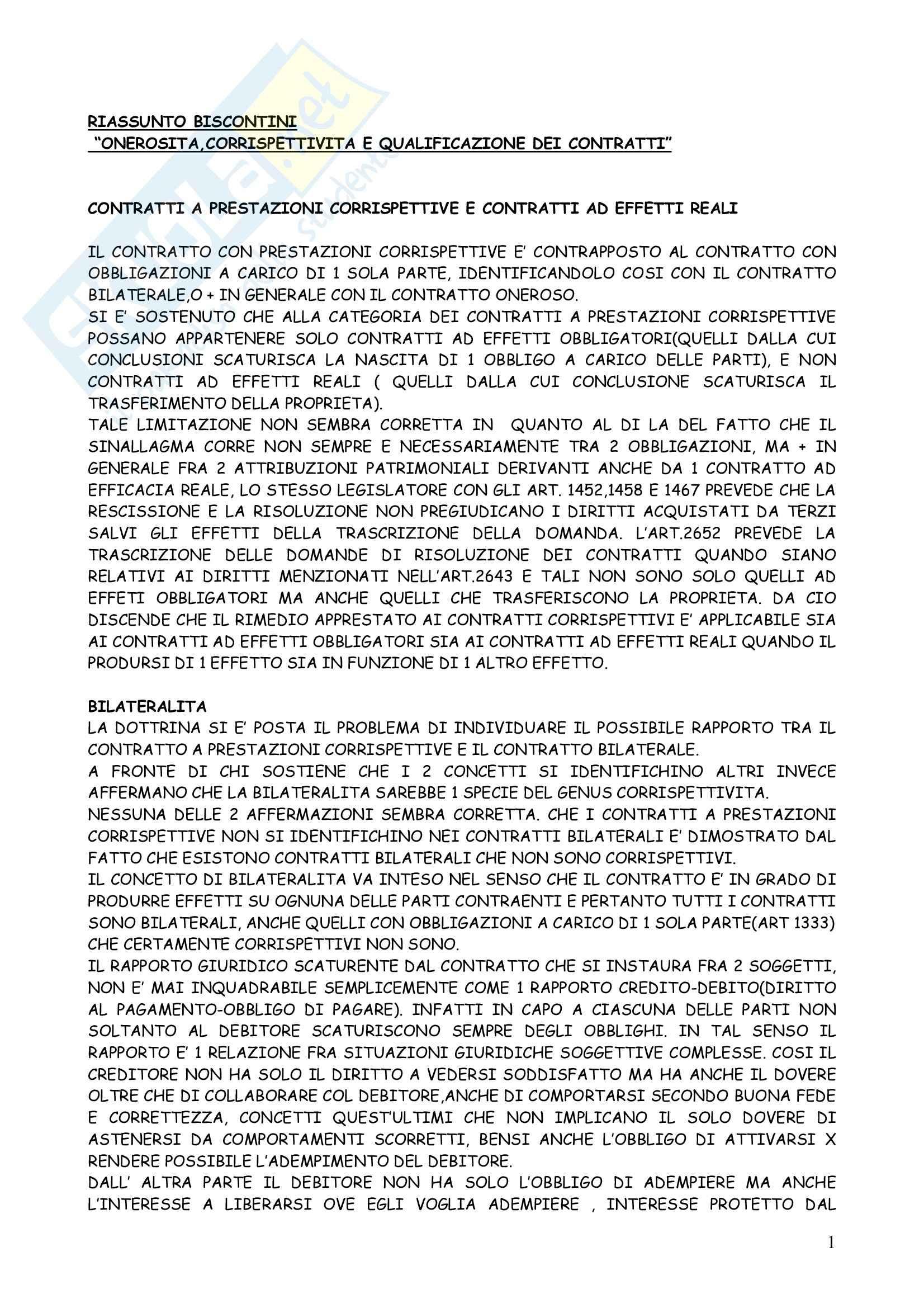 Diritto civile - la qualificazione dei contratti