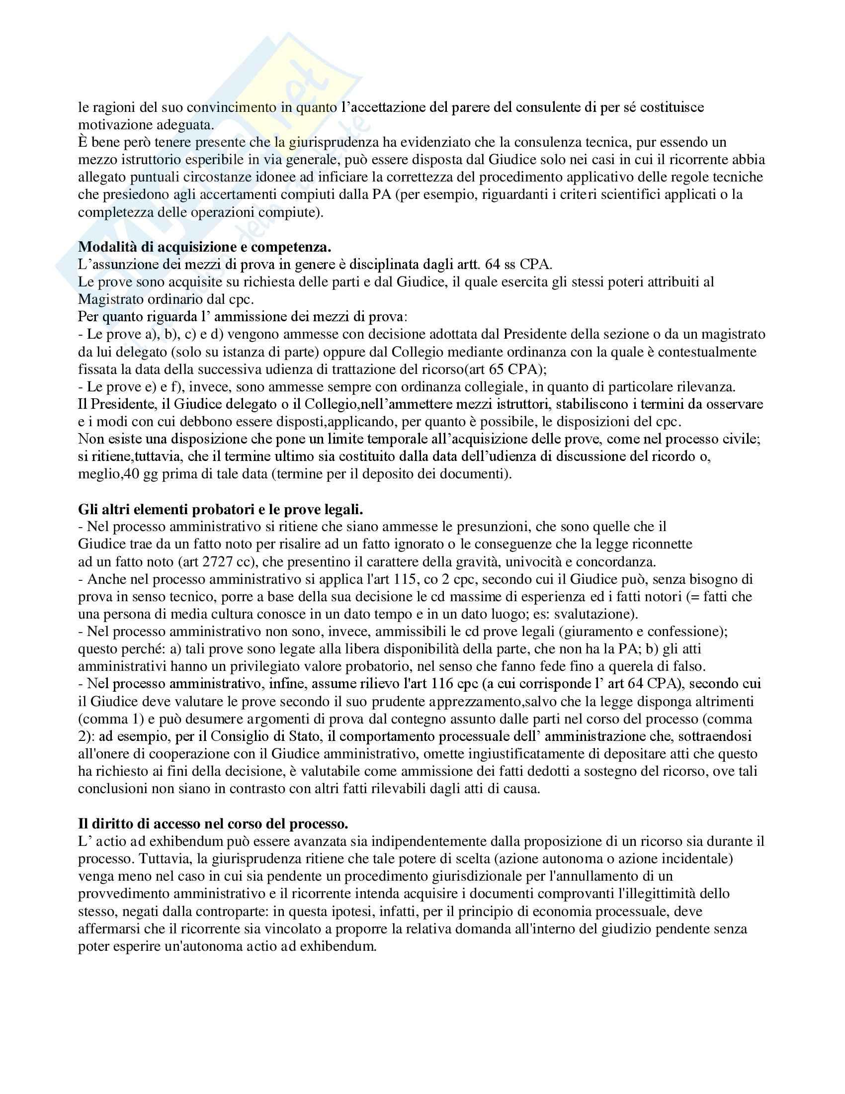 Riassunto esame Diritto, prof. Leone, libro consigliato Diritto processuale amministrativo, Leone Pag. 31