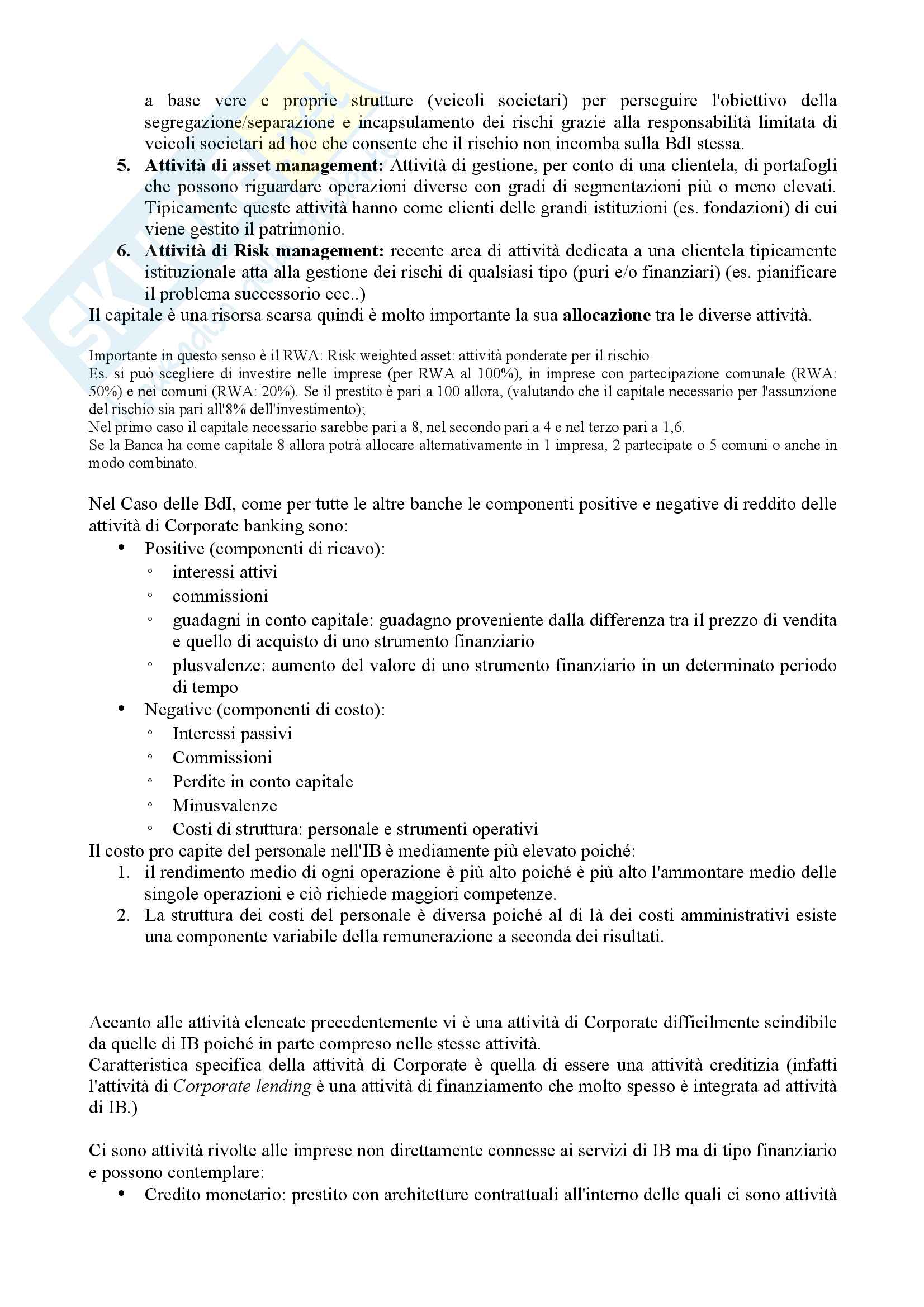 Appunti Corporate Banking Pag. 2