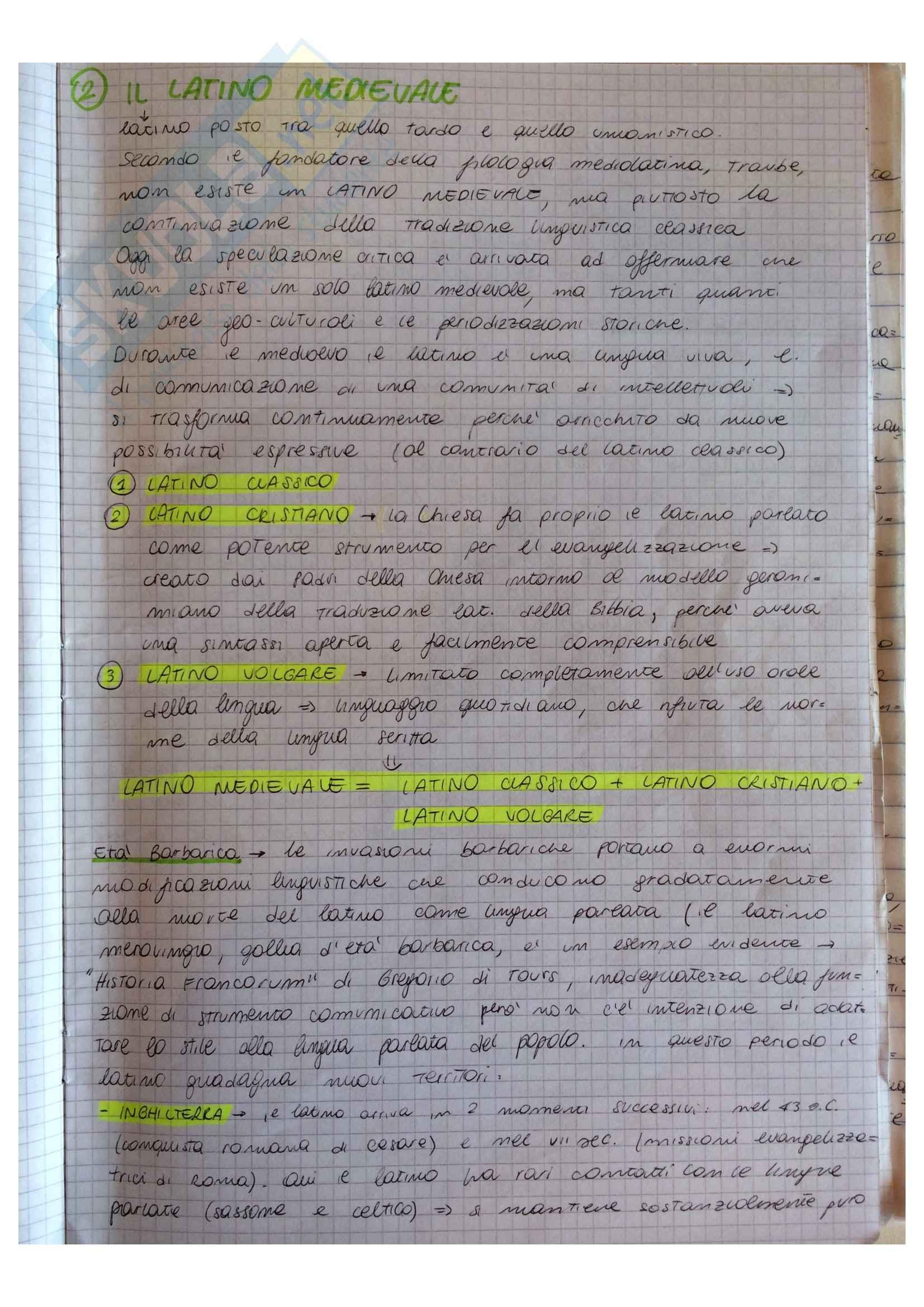 Riassunto esame Letteratura latina medievale, prof. De Prisco, libro consigliato La letteratura latina medievale. Una storia per generi di D'Angelo