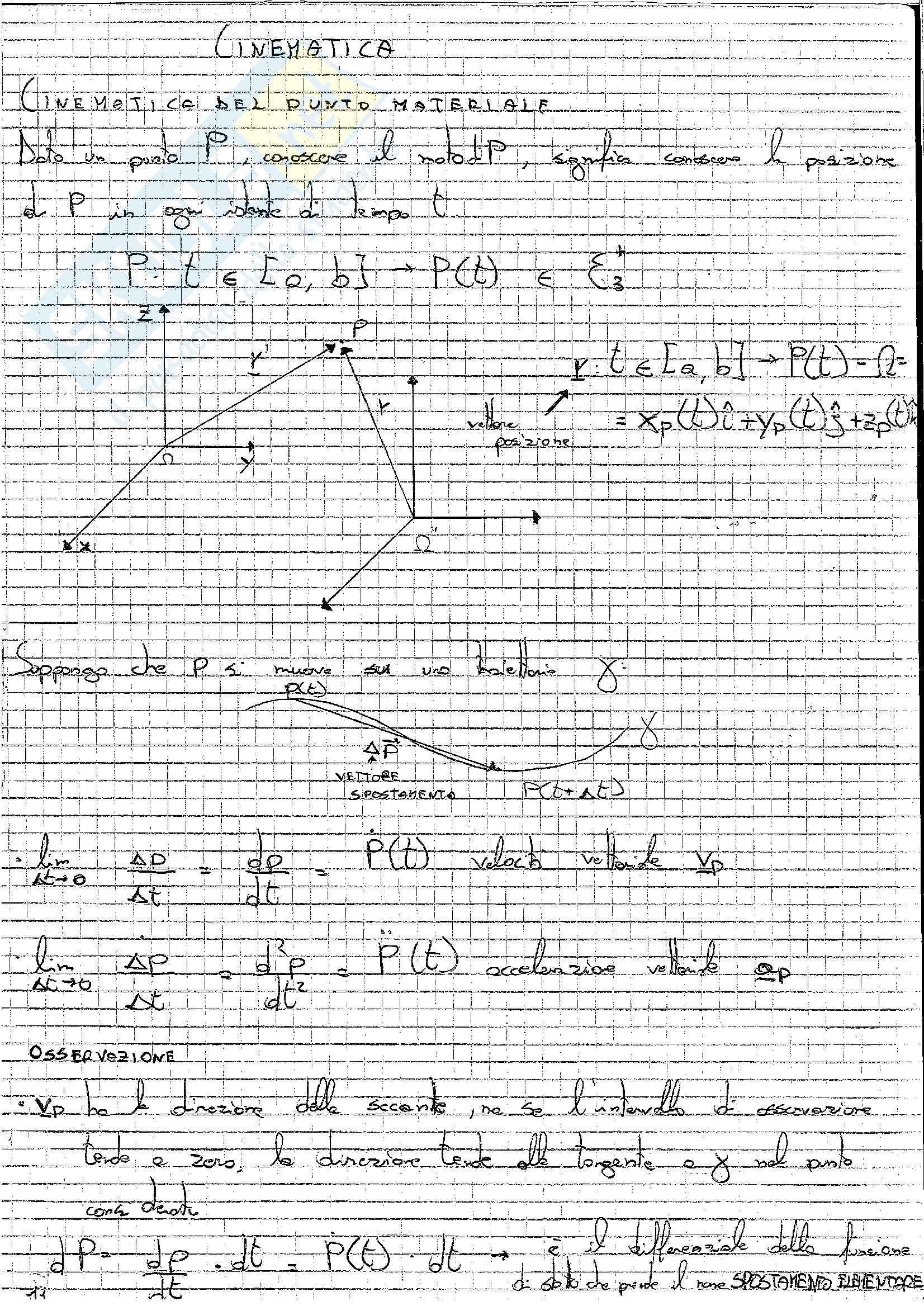 Formulario, Meccanica razionale Pag. 11