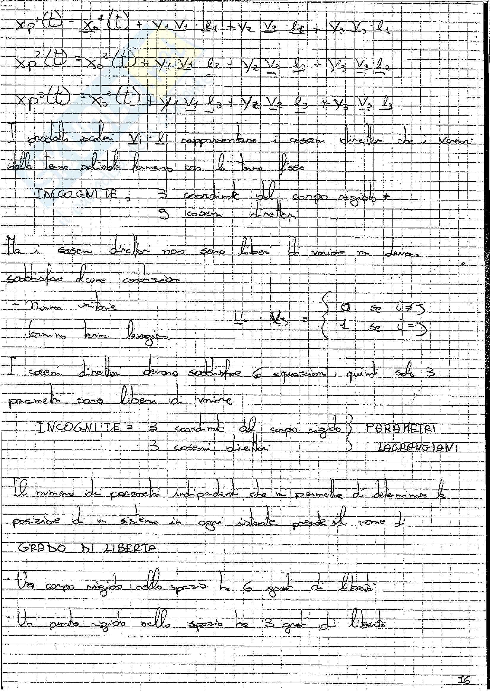 Formulario, Meccanica razionale Pag. 16