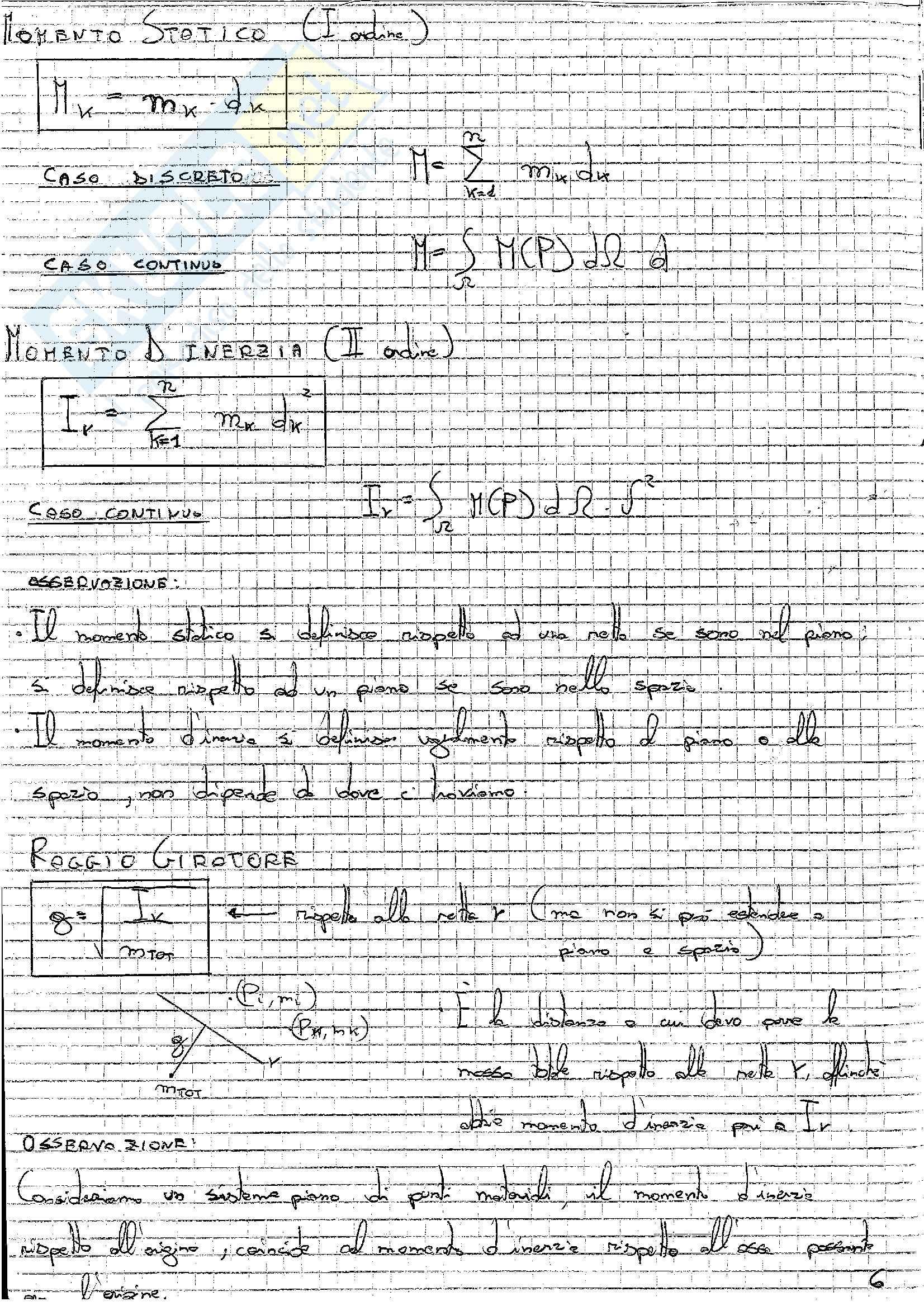 Formulario, Meccanica razionale Pag. 6