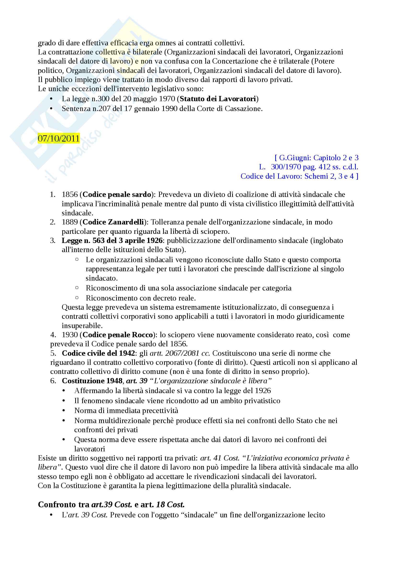 Appunti Diritto Sindacale 2011 Lucio Imberti Pag. 2