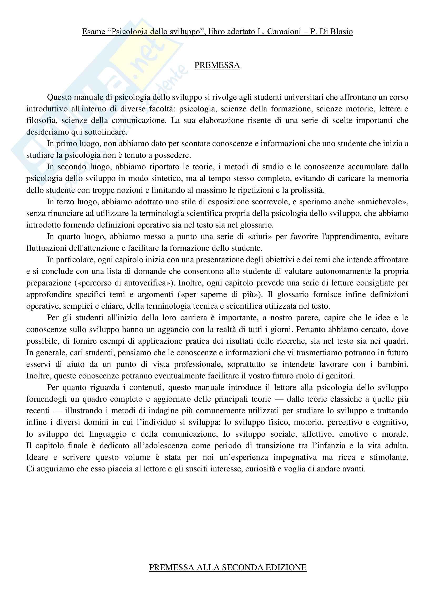 appunto F. Lecciso Psicologia dello sviluppo