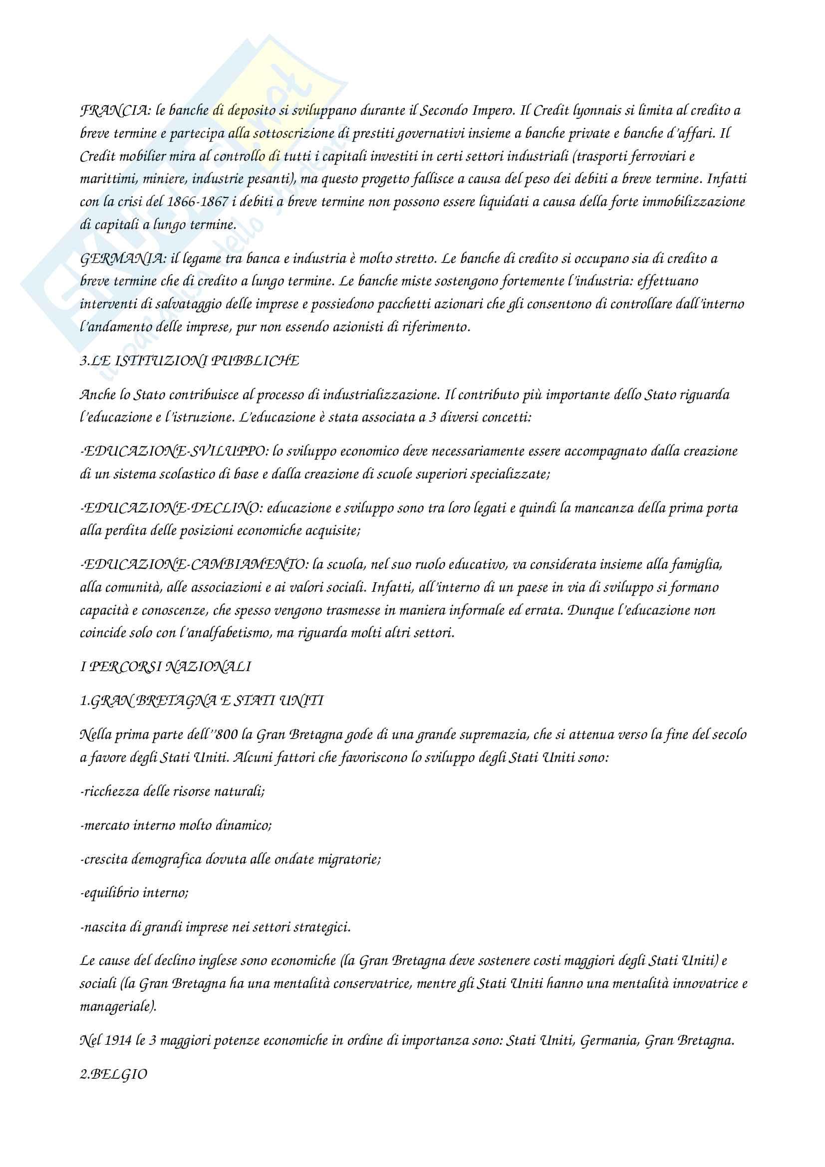 """Riassunto esame di storia economica, prof. Mario Taccolini, libro consigliato """"Dall'espansione allo sviluppo - Una storia economica d'impresa"""", 2011, P.Massa, G.Bracco, A.Guenzi, J.A.Davis, G.L.Fontana, A.Carreras Pag. 6"""