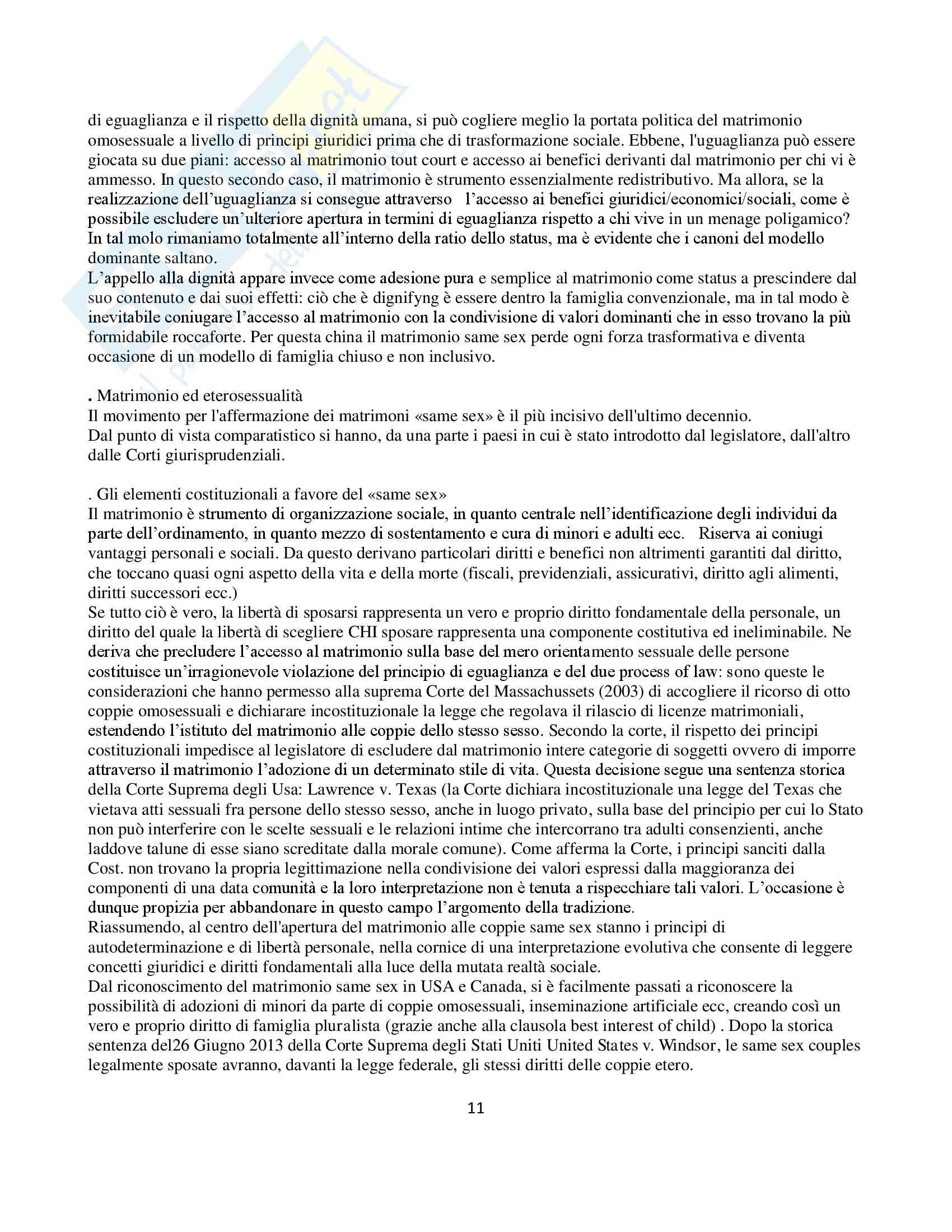 Riassunto esame diritto privato comparato, prof. Marini, libro consigliato Di cosa parliamo quando parliamo di famiglia, Marini Marella Pag. 11