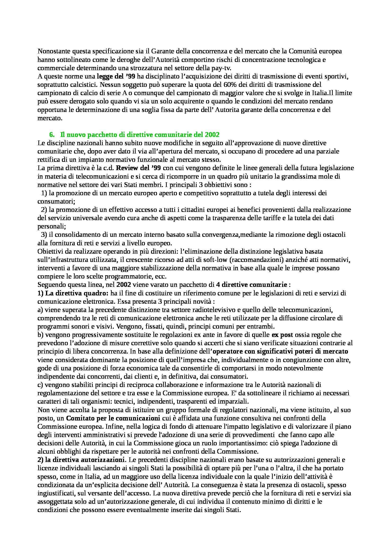 Riassunto esame Diritto dell'informazione e della comunicazione, prof. Caggiano, libro consigliato Caretti Pag. 31