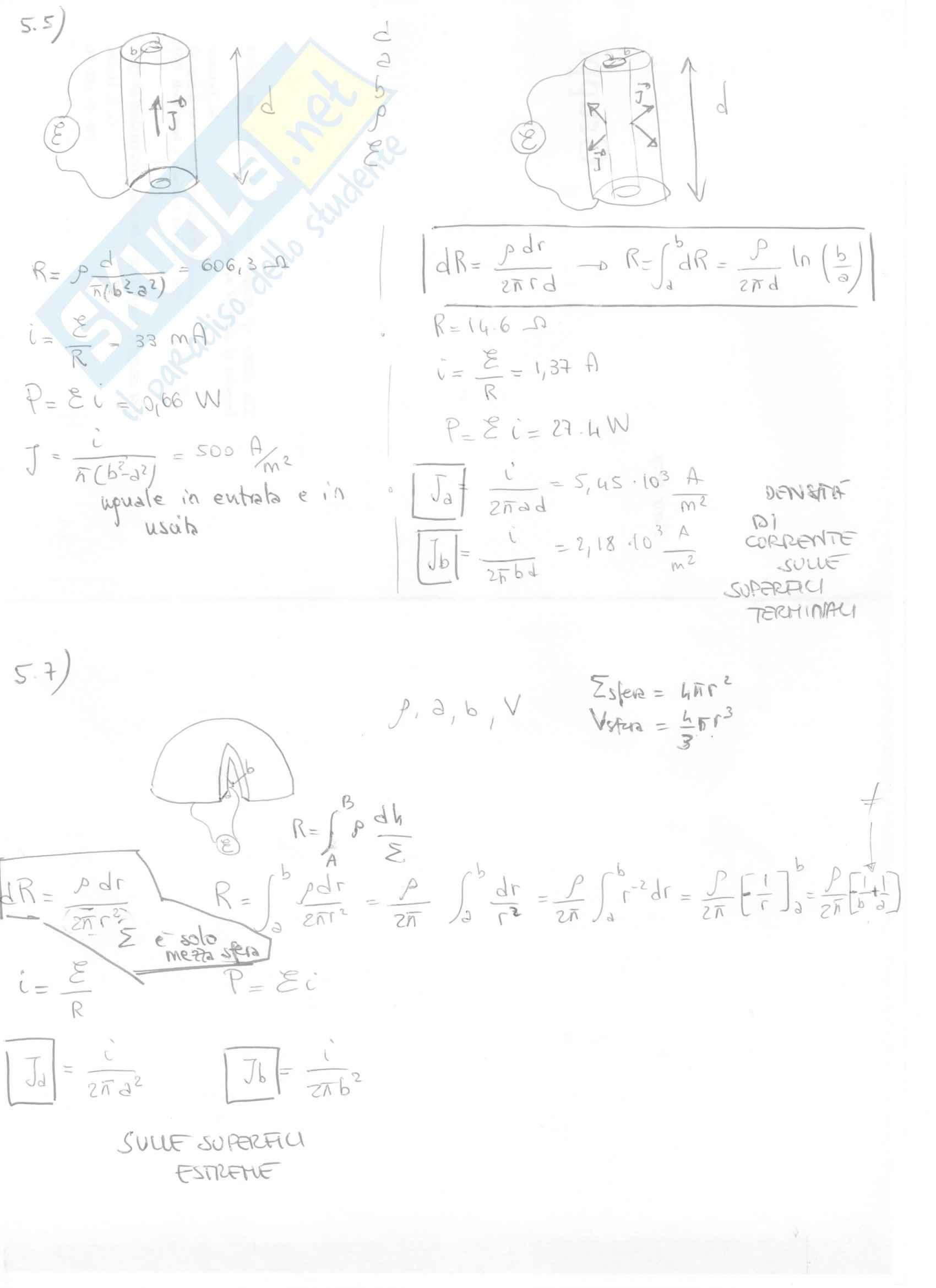 Fisica II - Esercizi svolti capitoli 5 e 6 Pag. 2