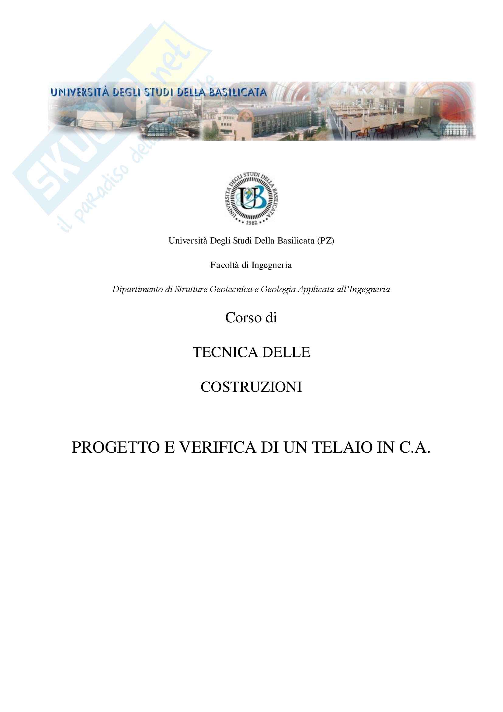 Progetto Telaio con allegate Tavole Progettuali