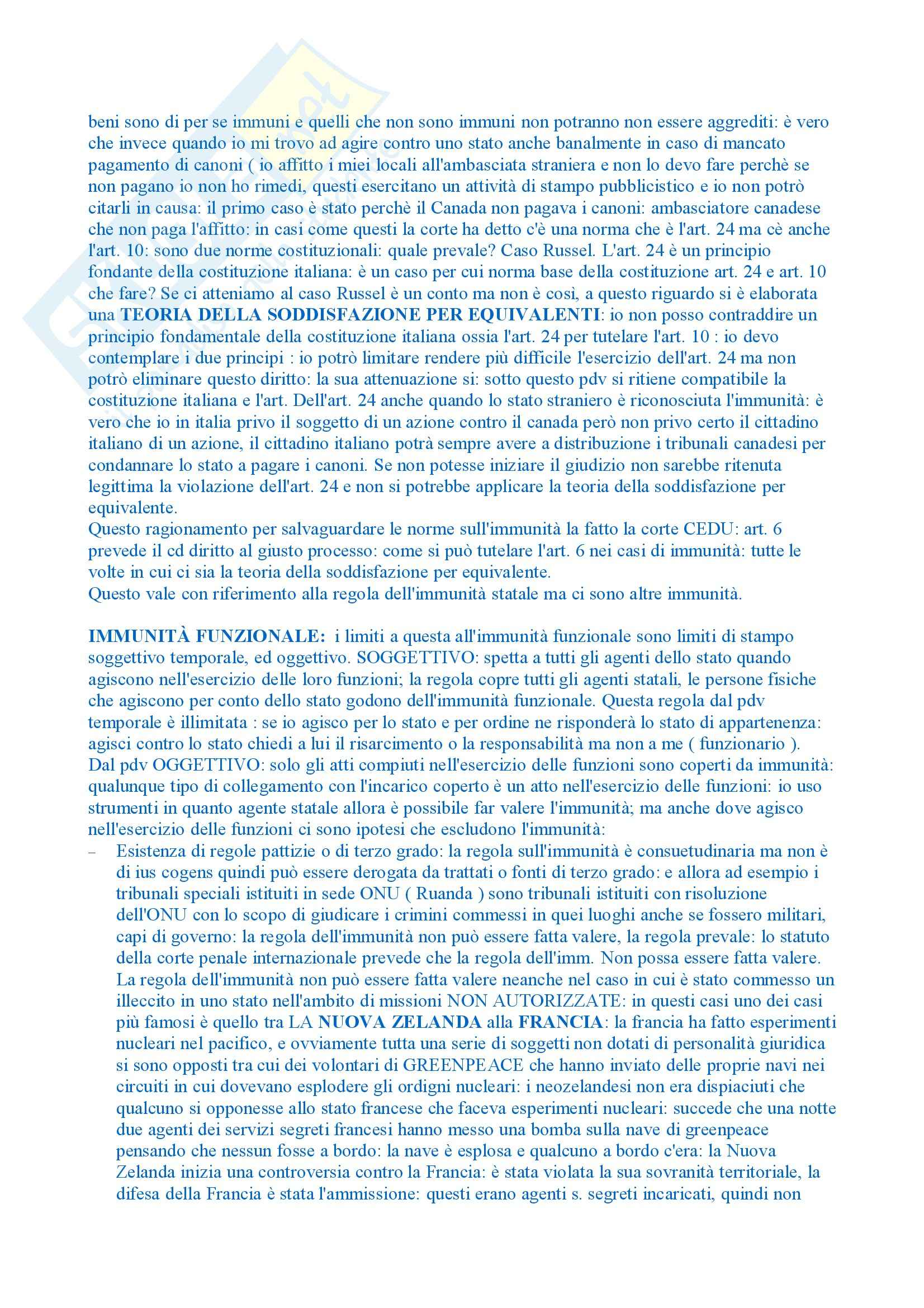 Diritto internazionale - Appunti dalle lezioni Pag. 76